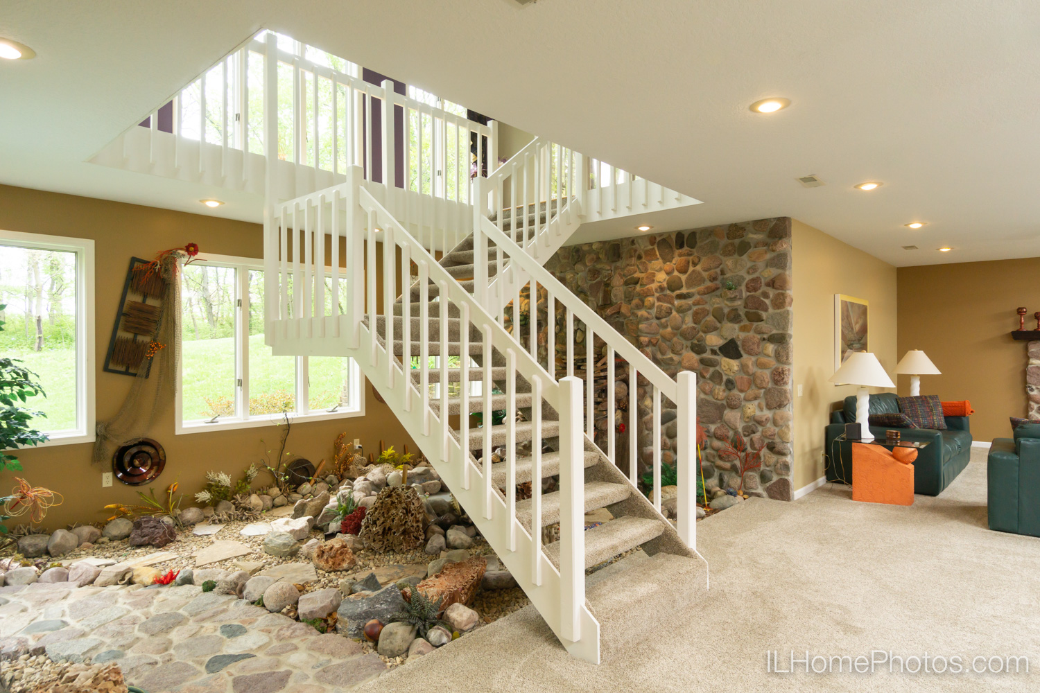 Interior atrium photograph for real estate in Mt Zion, IL :: Illinois Home Photography by Michael Gowin, Lincoln, IL