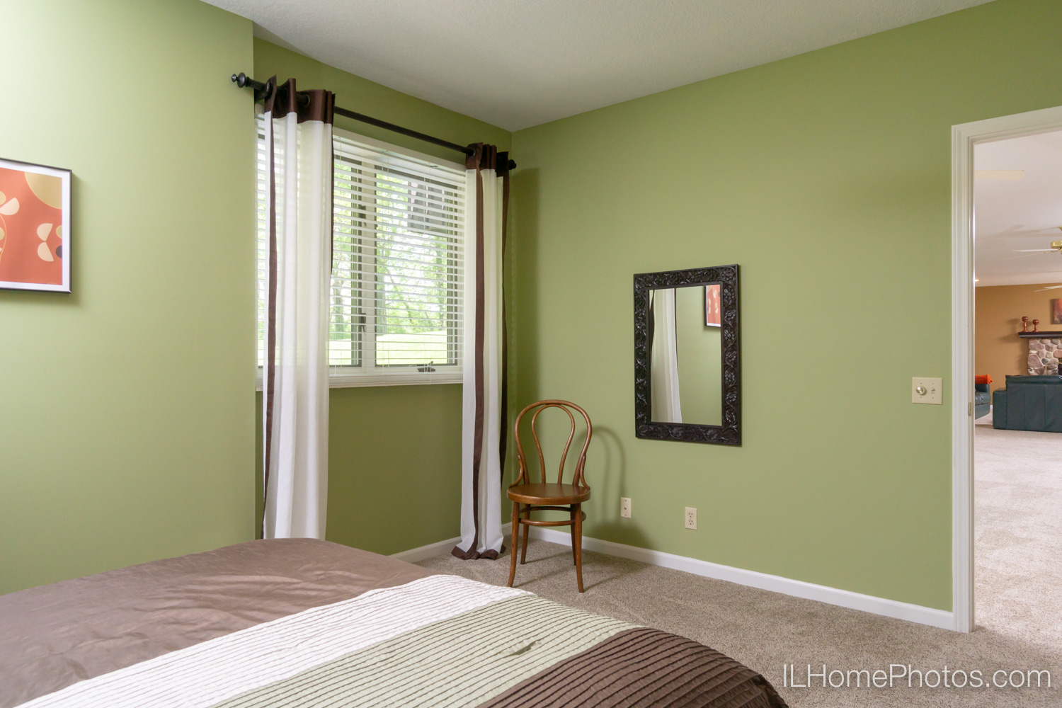 Interior bedroom photograph for real estate in Mt Zion, IL :: Illinois Home Photography by Michael Gowin, Lincoln, IL
