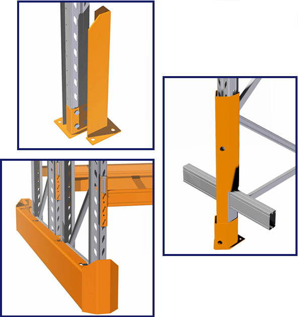 colby end protectors, corner guards, and low beam upright protectors