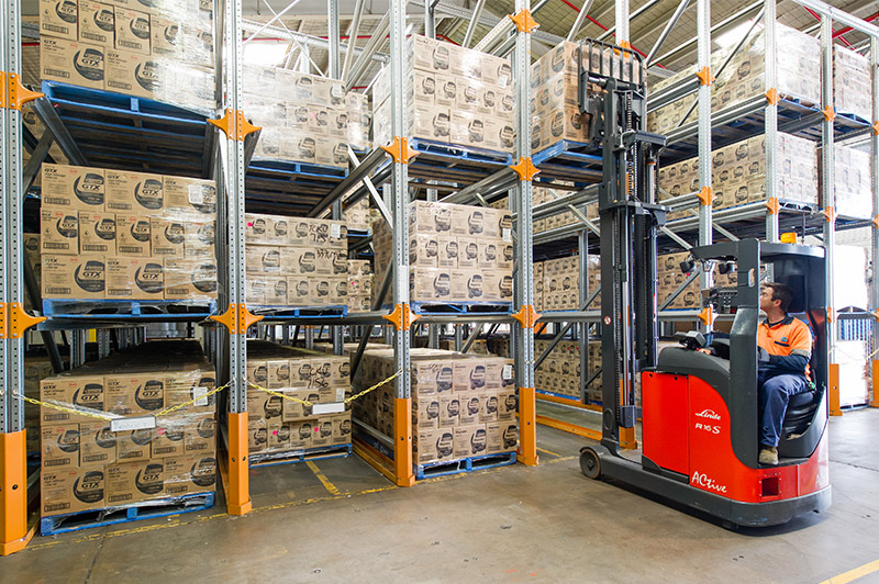 Drive-in Pallet Racking at ALMC