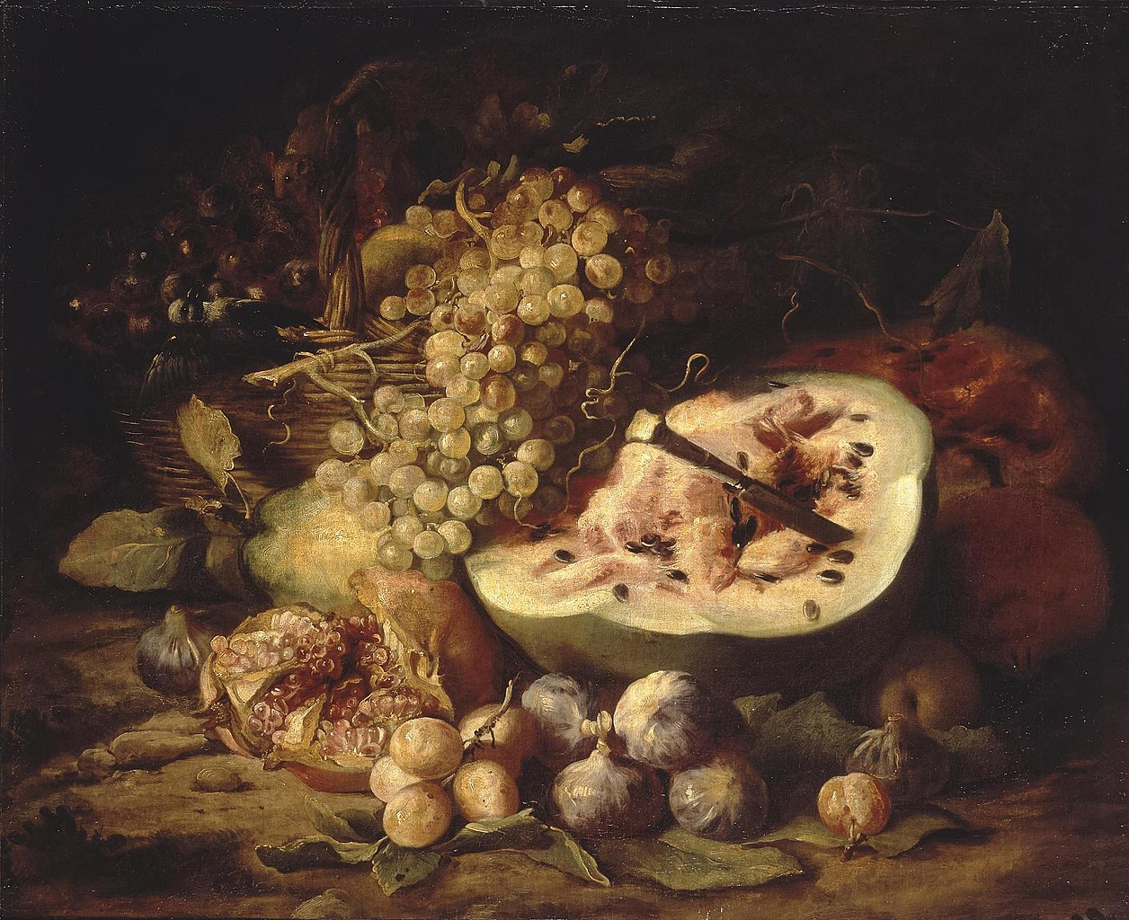Abraham Breughel, Fruit Still Life (1670s), oil on canvas