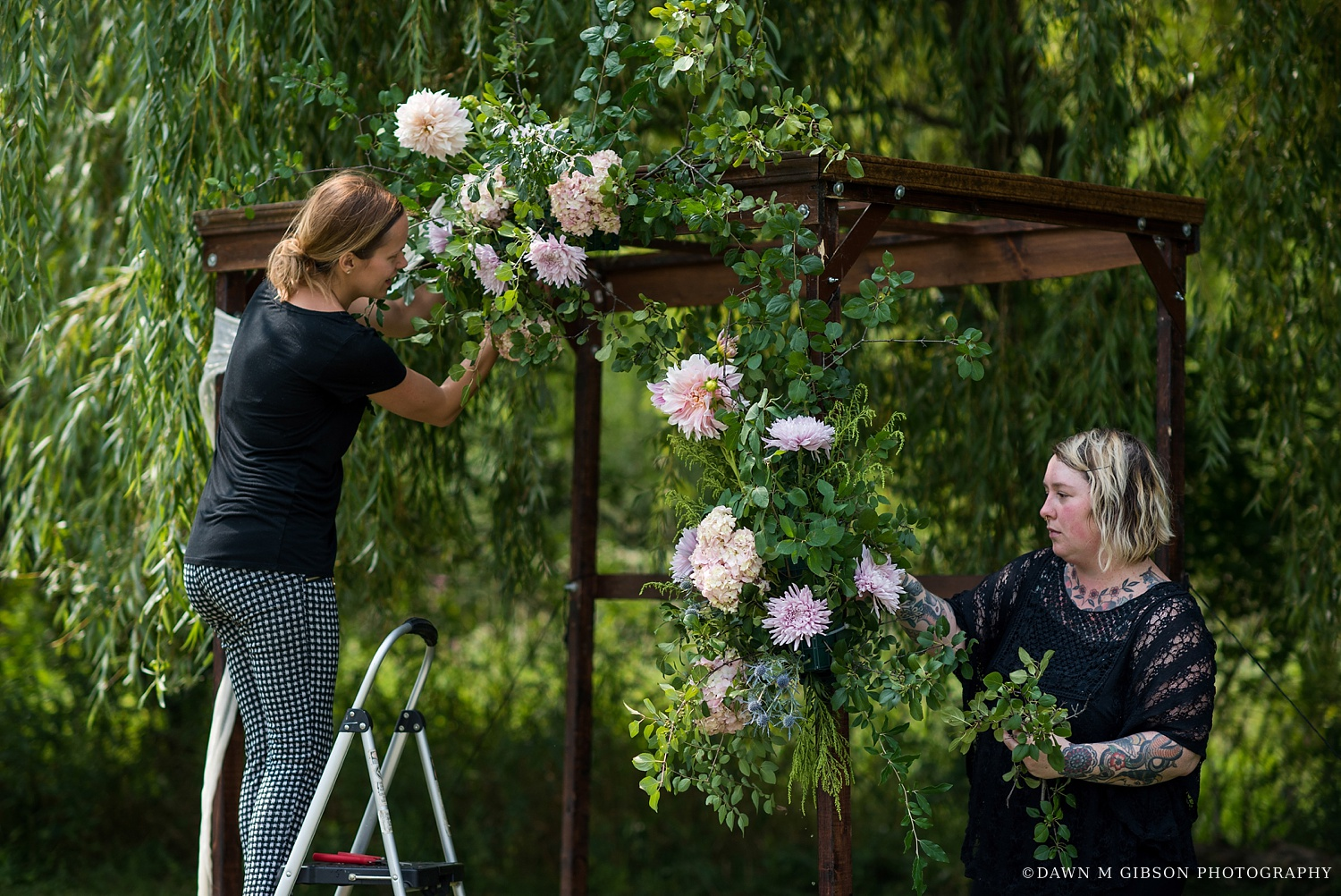 William's Florist Behind-The-Scenes with Dawn M Gibson Photography