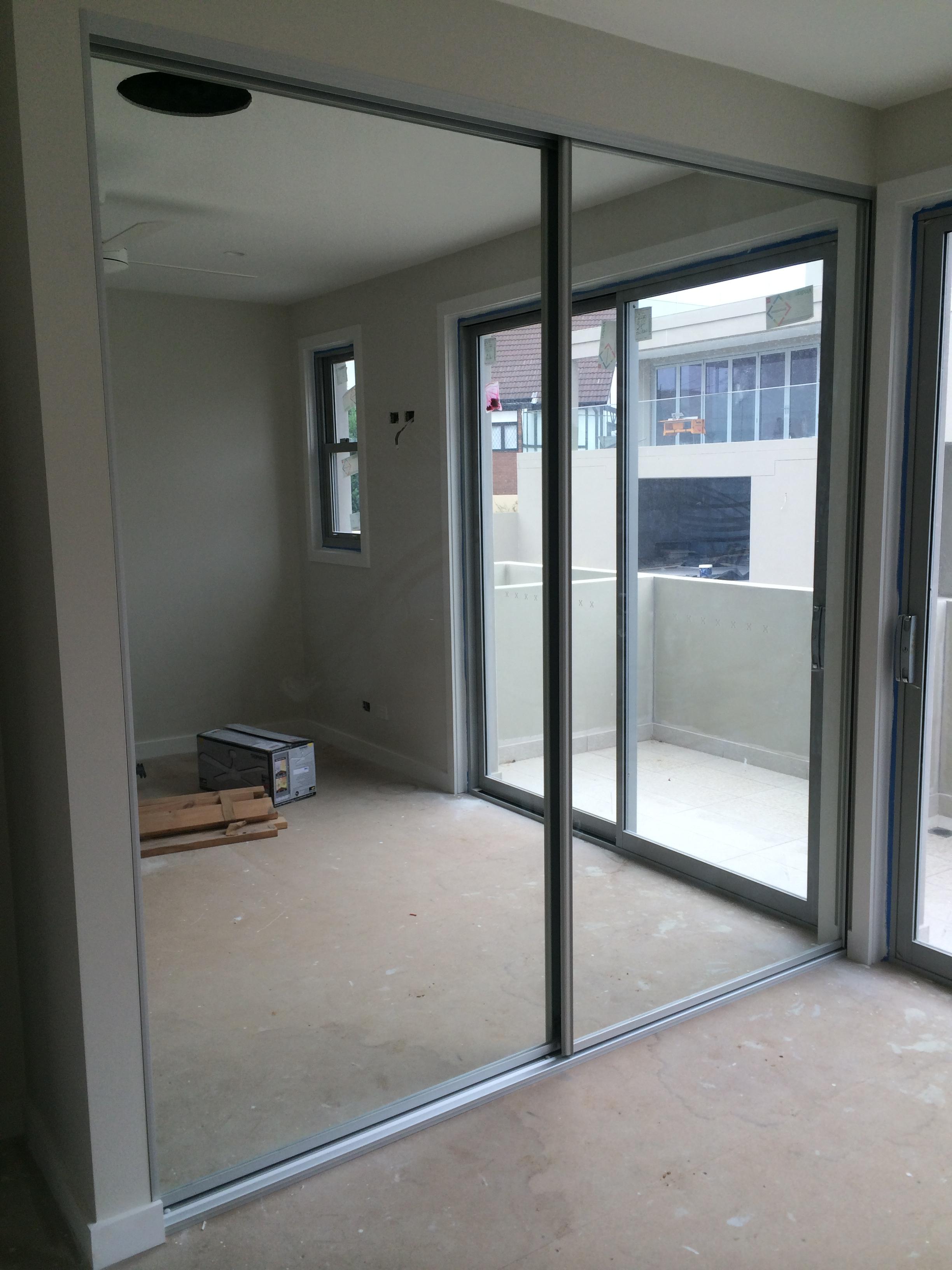 two door mirror wardrobe with matte silver frame.JPG