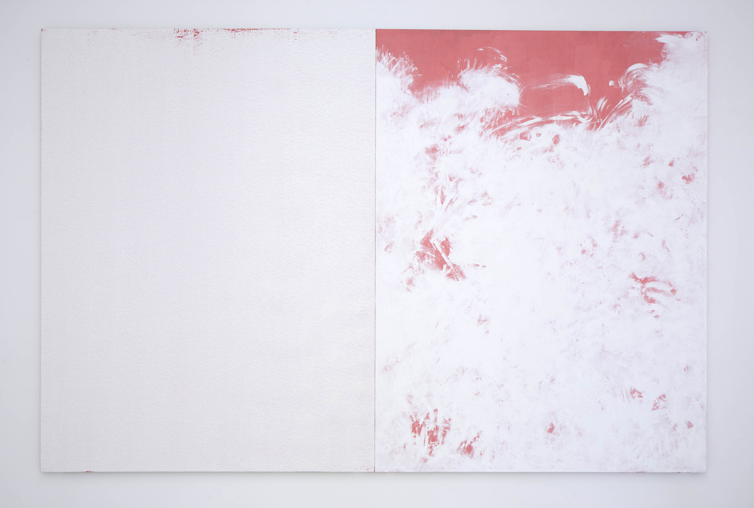 Distanzen , 2015  gesso and acrylic on Belgian canvas  240 × 340 cm