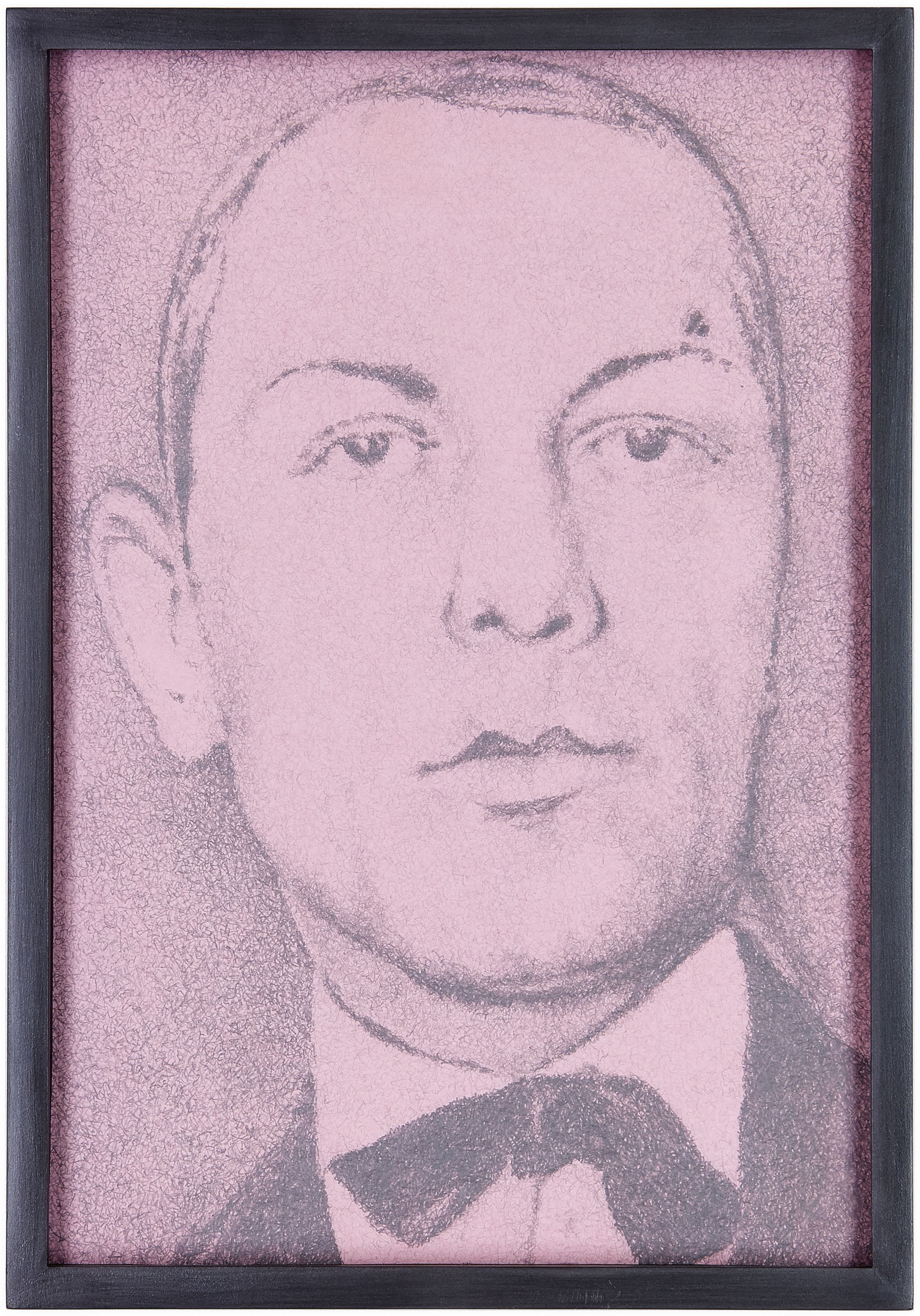 Hommage , 2013  pencil on pink paper  30,5 × 21 cm