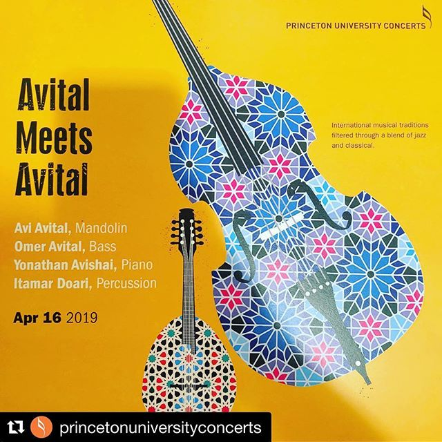 Taking part in Princeton University Library's Crossroads Series this evening with Omer Avital to discuss the music in tomorrow's concert at 7:30 in Richardson Auditorium.  #AvitalMeetsAvital * * * #mandolin #mandolinplayer #classicalmandolin #musician #classicalmusician #classicalmusic #doublebass #doublebassplayer #acoustic @omeravitalmusic