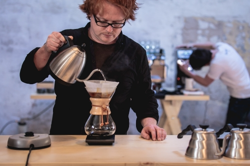 Ger O'Donohoe, director and fearless leader of First Draft Coffee. Photo courtesy of  Vania Ling .