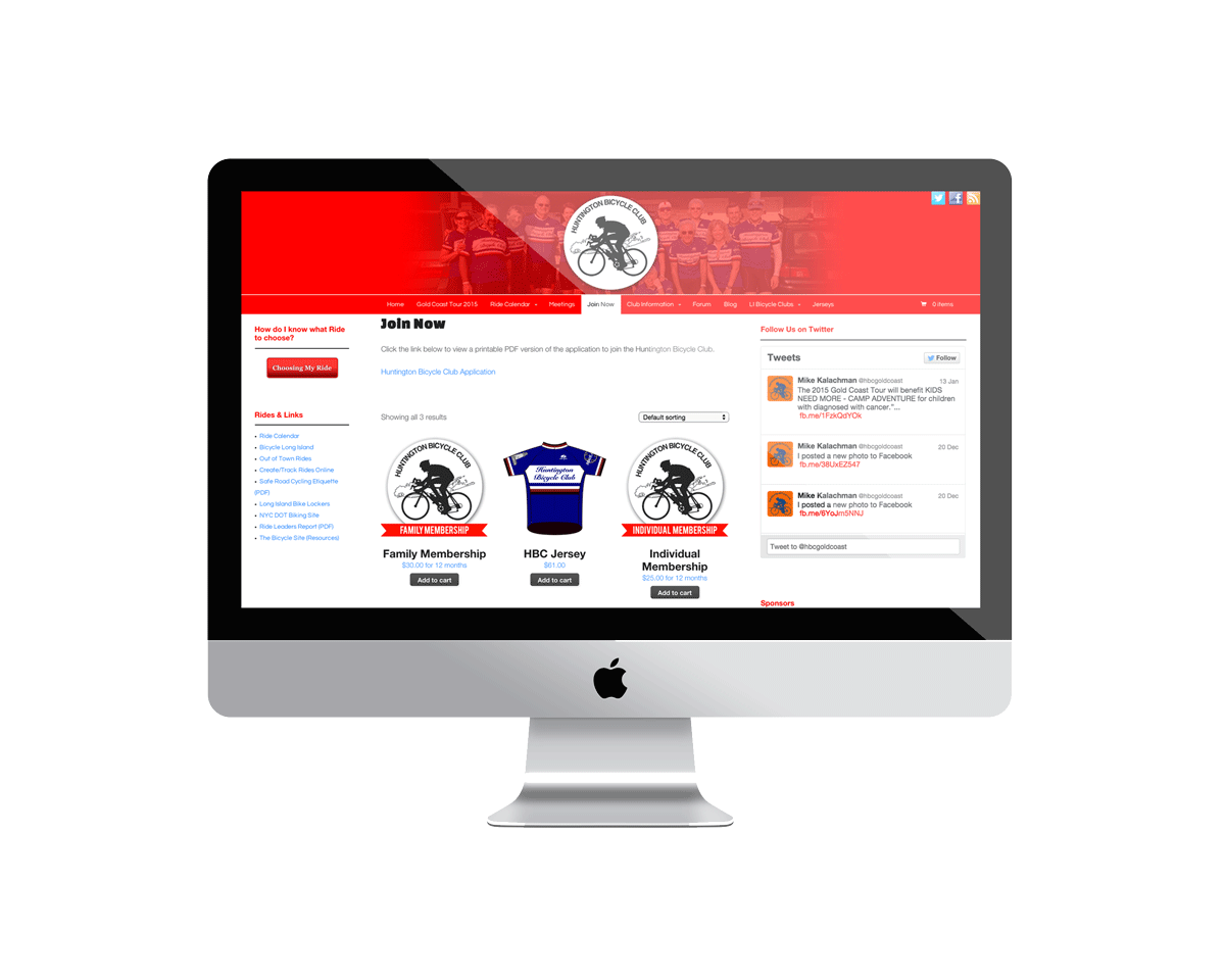 Huntington Bicycle Club Website