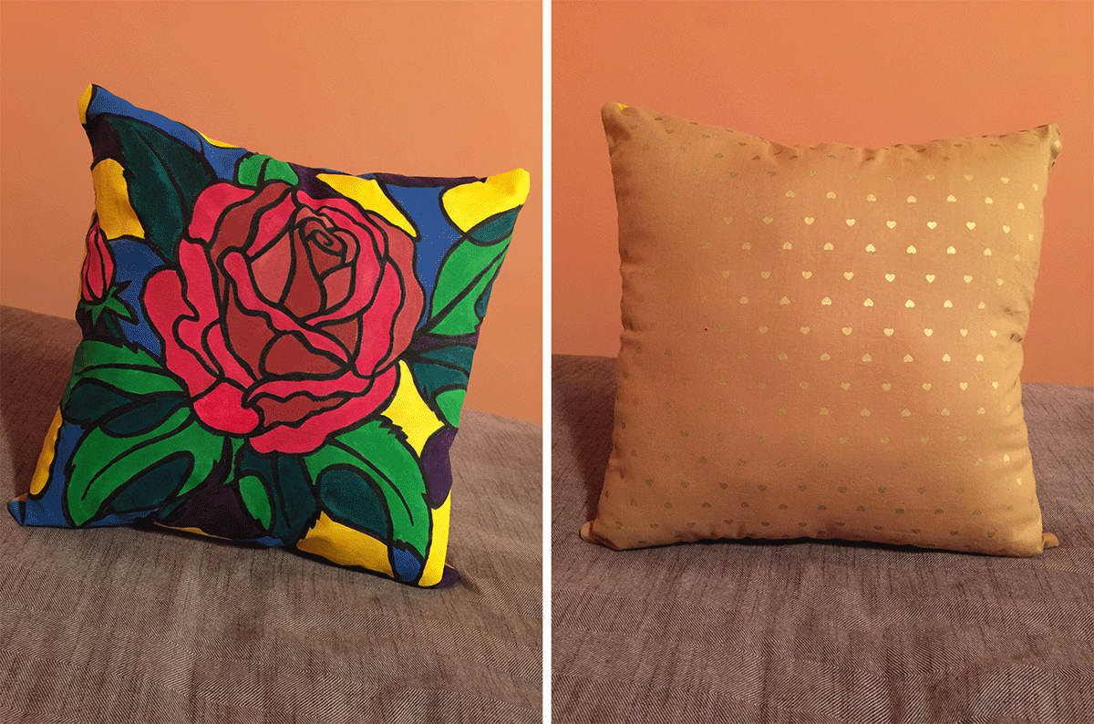 (Front & Back of Pillow) Click to view larger image.