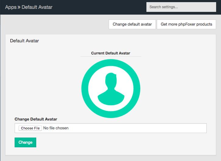 phpFox default profile picture