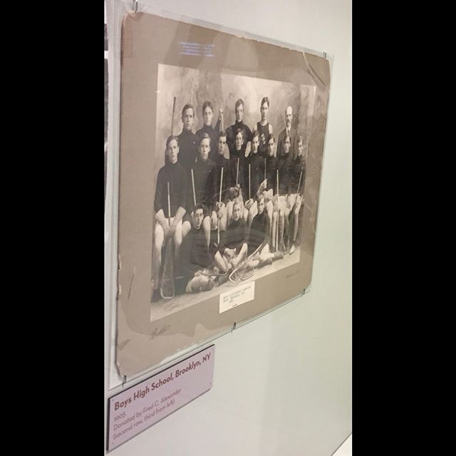 On a recent trip to the museum at @uslacrosse HQ, I came across this image.  I was shocked to learn that the very high school field we use for Spring lacrosse was home to a lacrosse team in the early 1900's.  When I was growing up in Brooklyn, you could have never convinced me of this!  I guess things come full-circle.  Sign up to be part of our historic legacy this Spring.  Link in bio!  #brooklyn #lacrosse #history #artifacts #thecreatorsgame #growthegame #legacy #fullcircle
