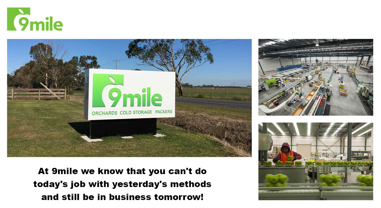 9 Mile's state of the art facility in Tynong, Victoria, Australia.