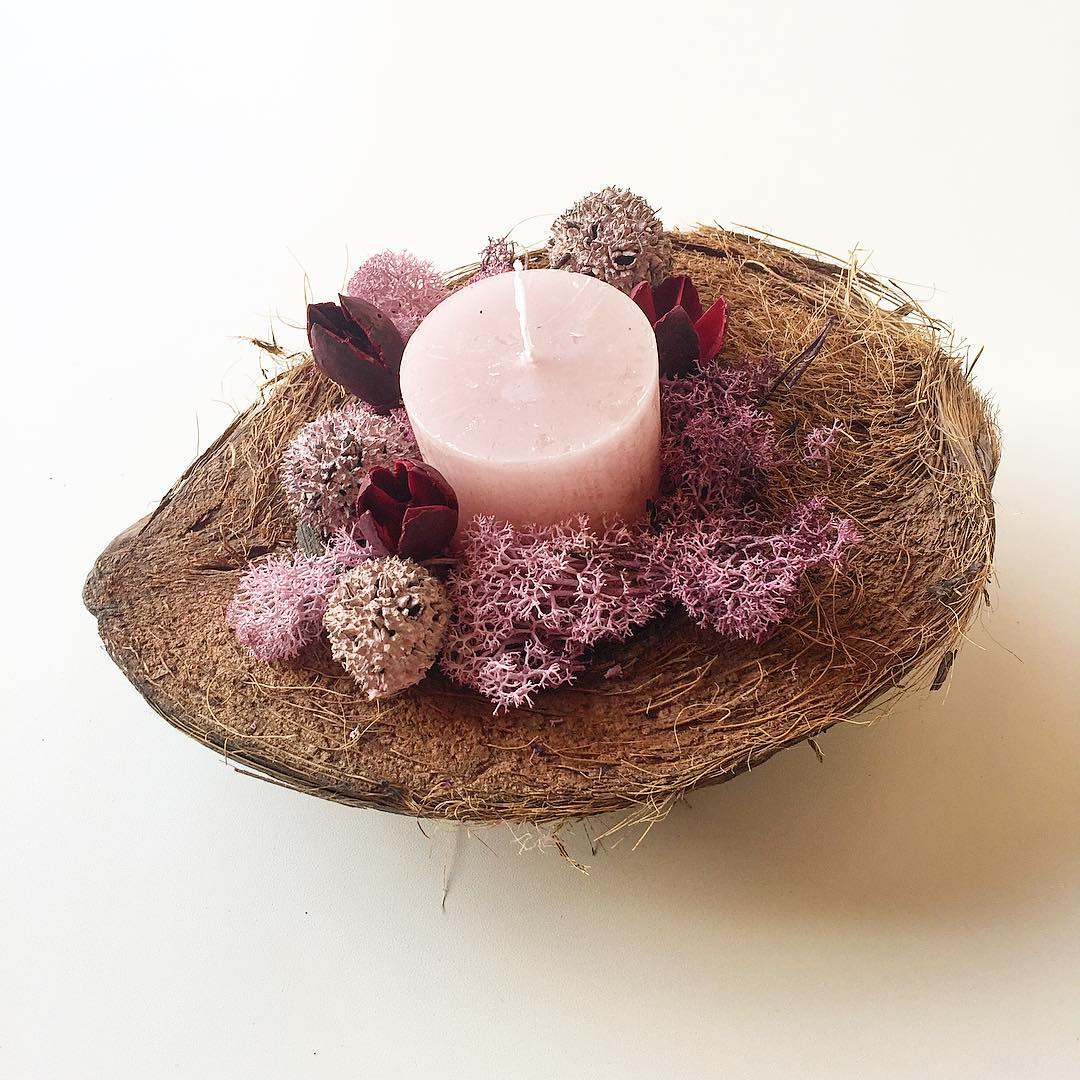Coco - Coconut shell Candle holder3500 HUF