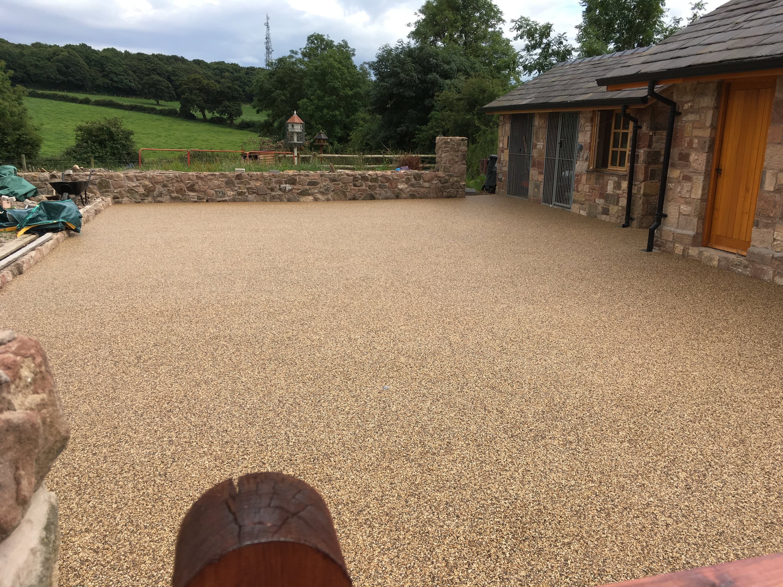 Resin bound stone courtyard (Heswall)