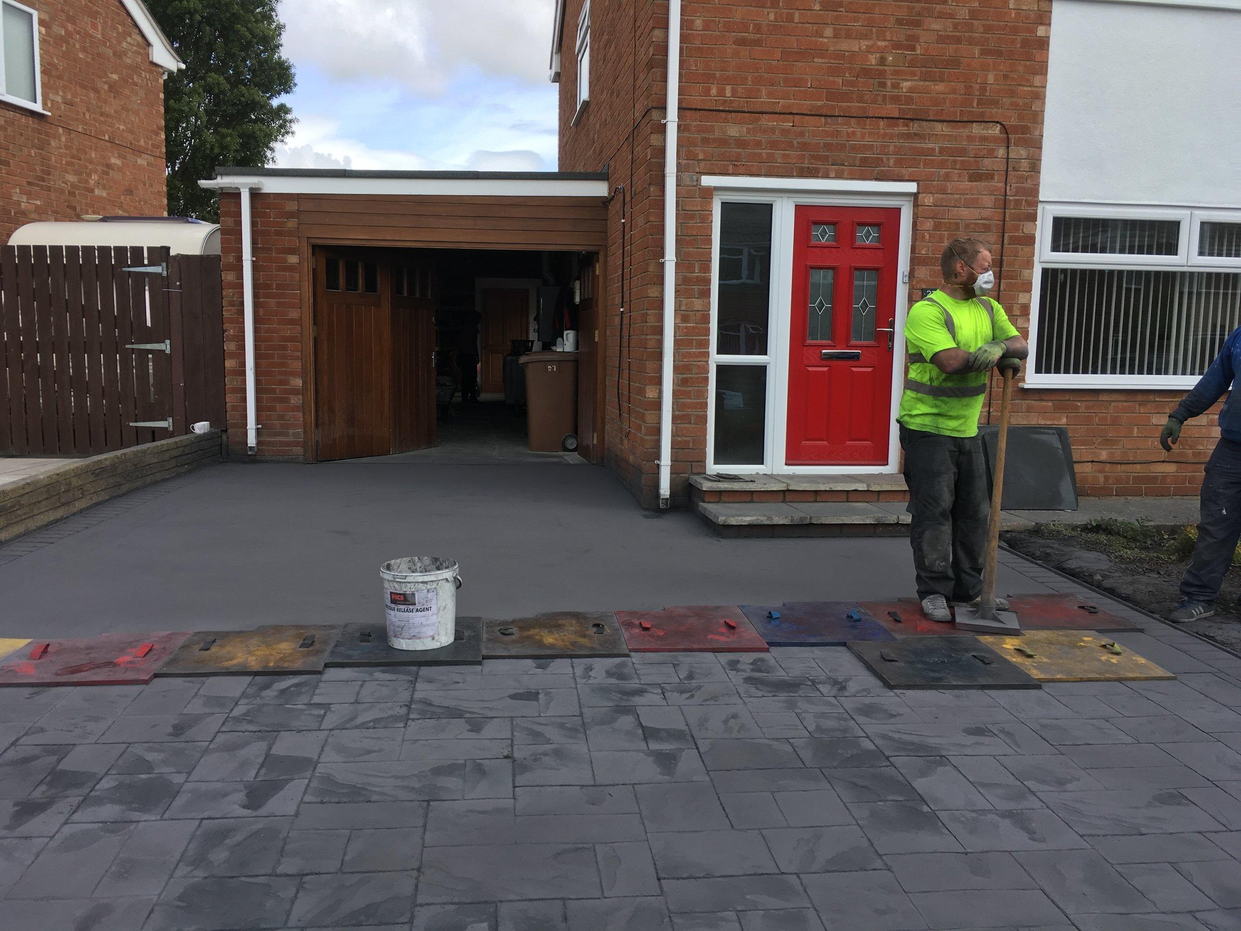 Imprinted concrete driveway (Bromborough)