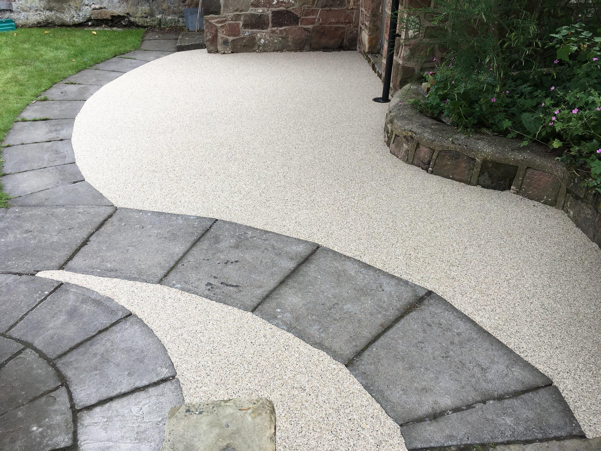 Resin bound stone patio (Wallasey)
