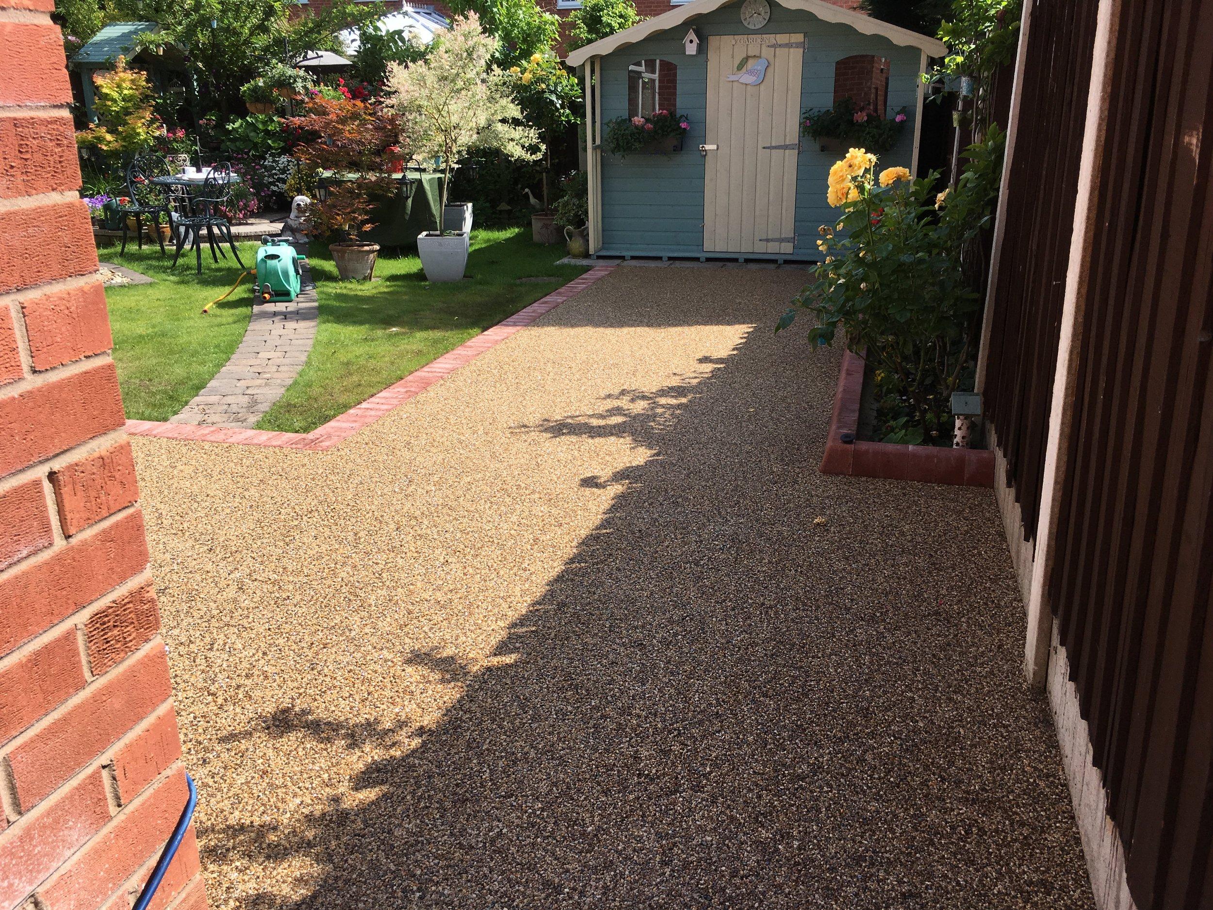 resin bound stone patio