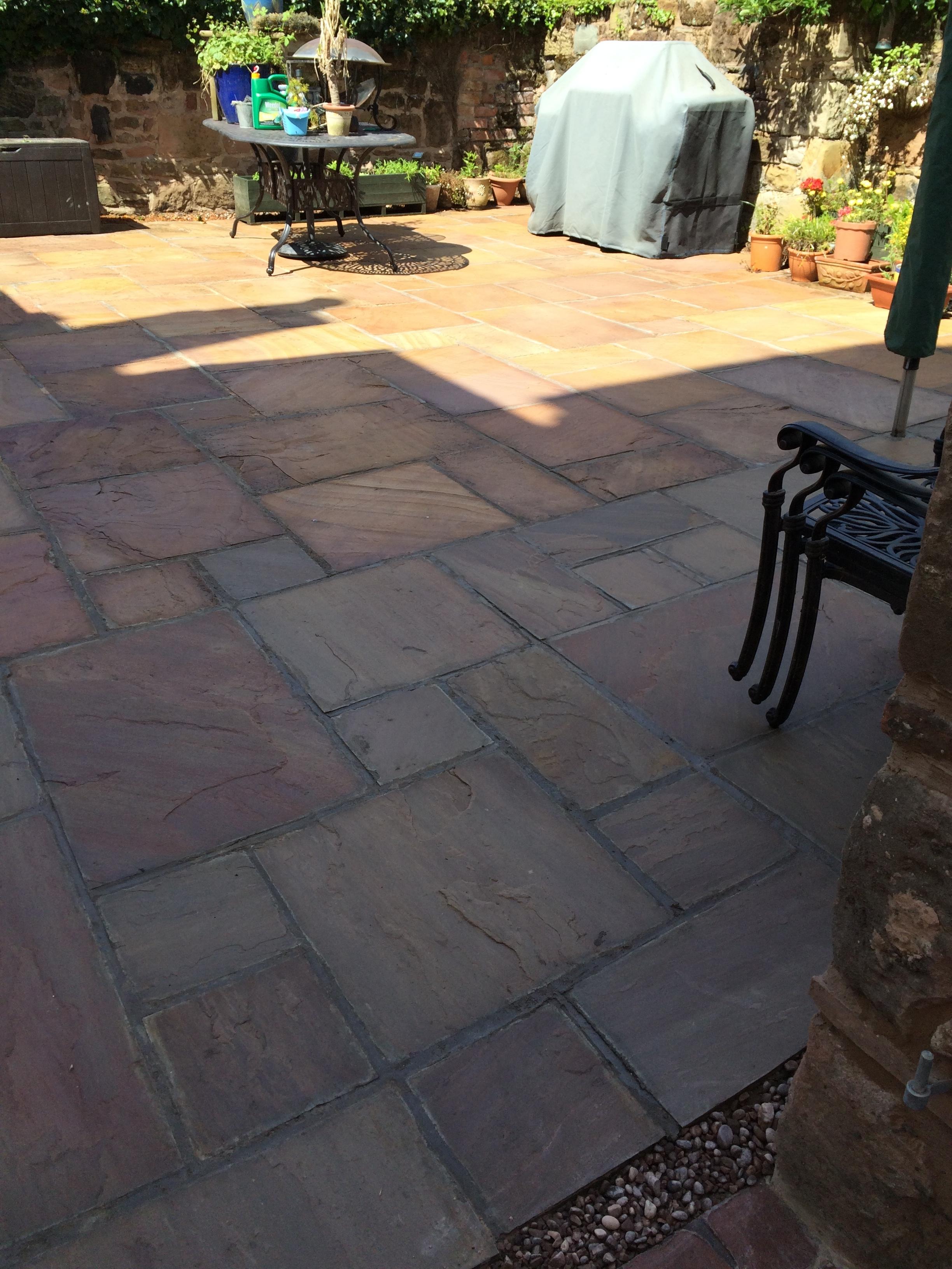 Indian stone paving patio