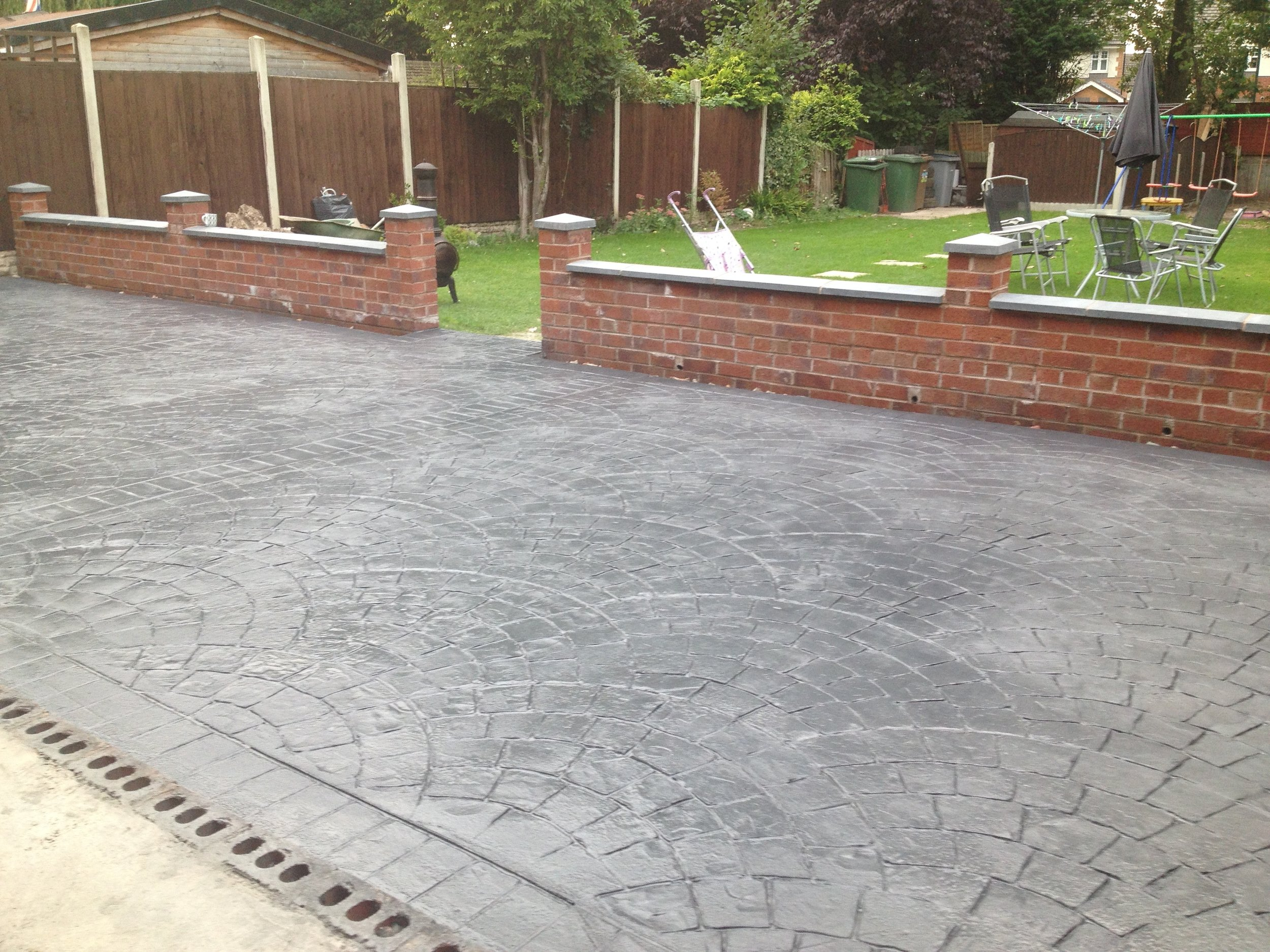 stamped concrete patio's
