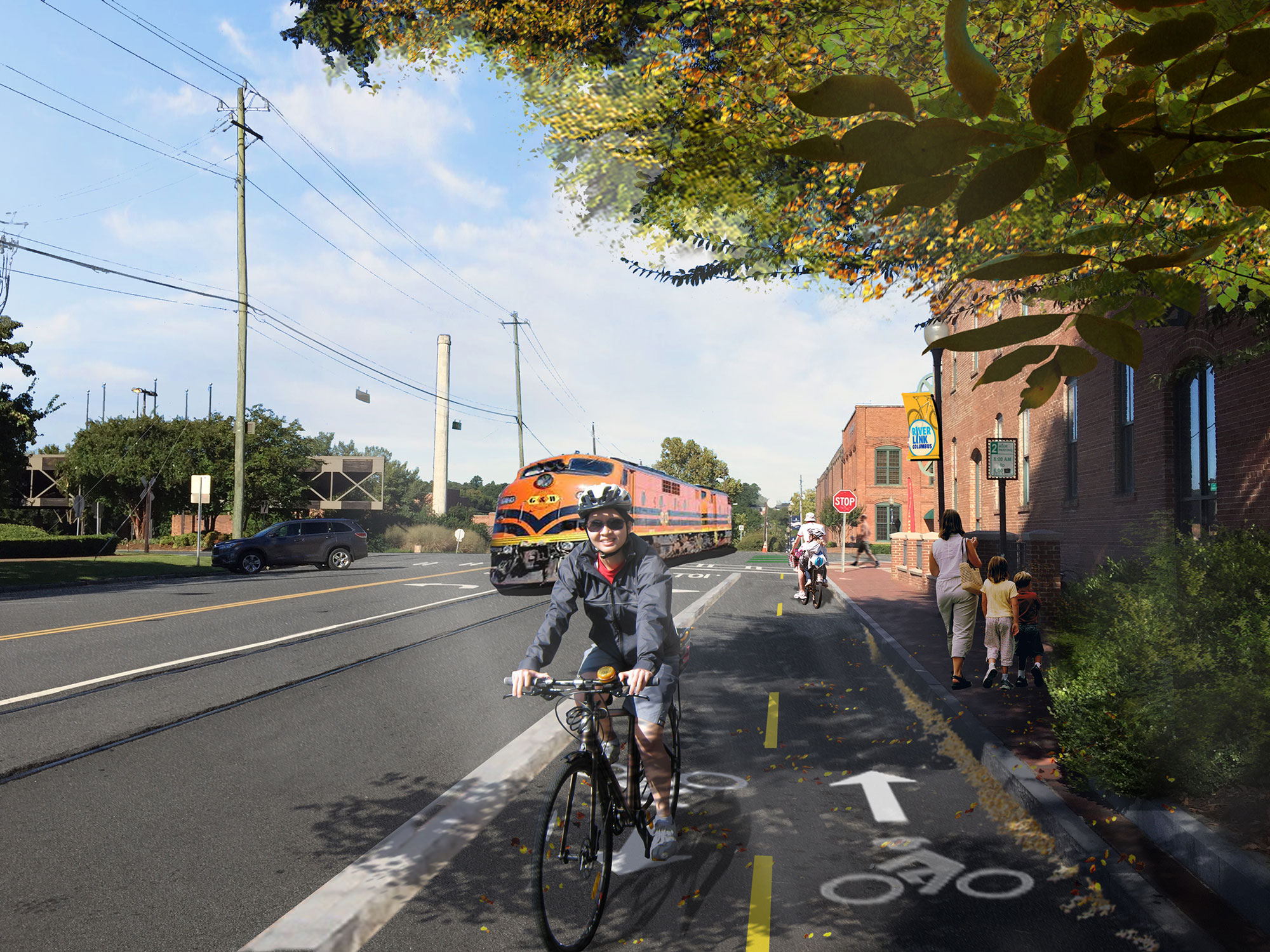 Proposed cycle track on 9th street
