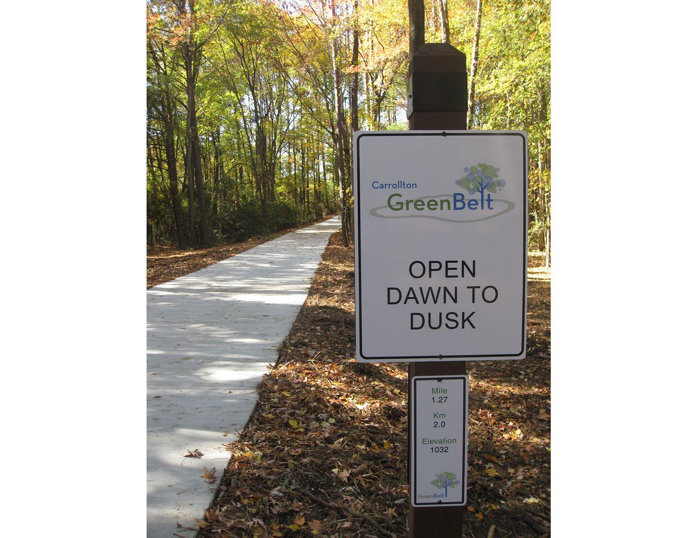 Trail regulatory sign