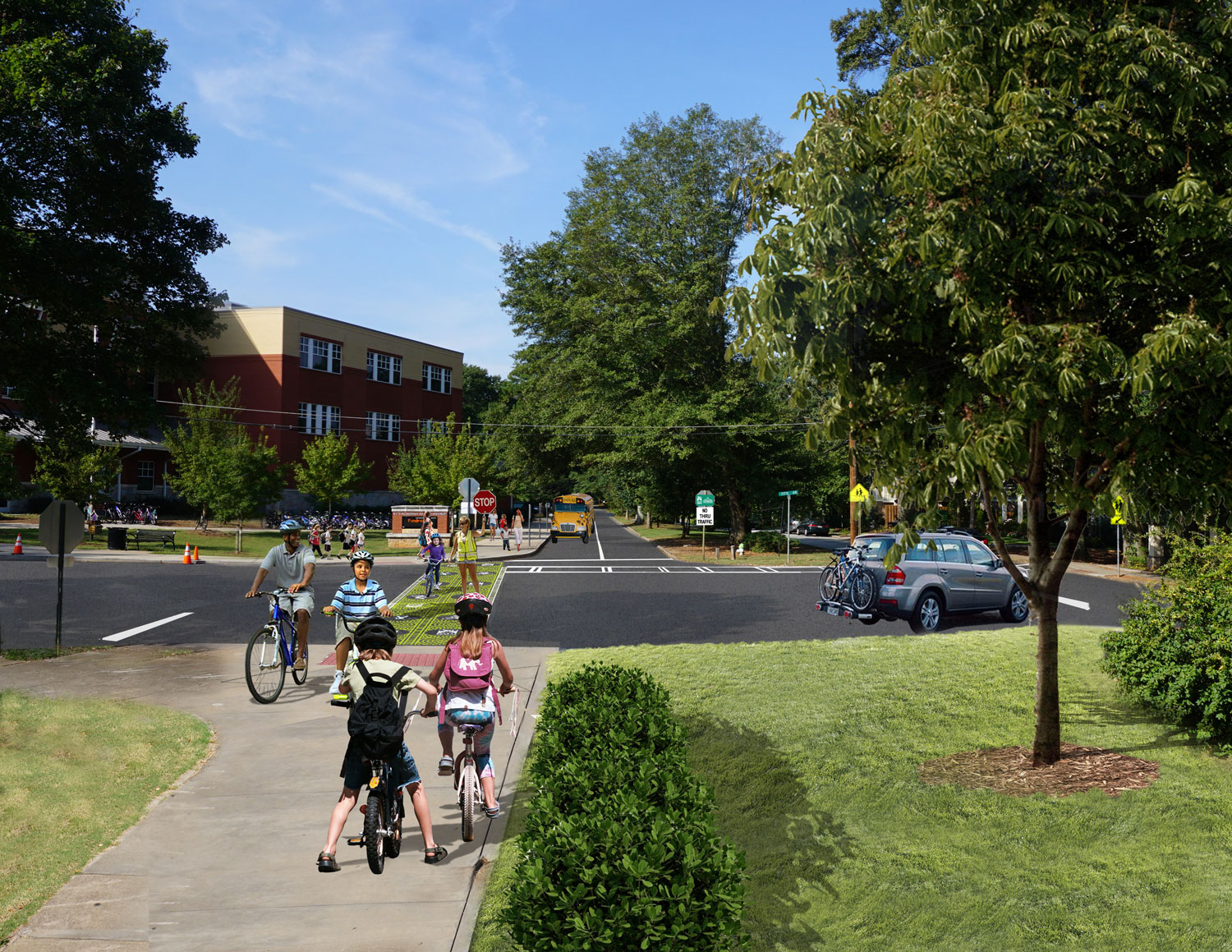 Proposed removal of existing north bound lane along Oakview Road between 5th Avenue and Spring Street.