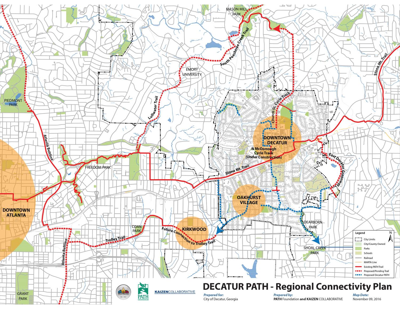 Regional connectivity map