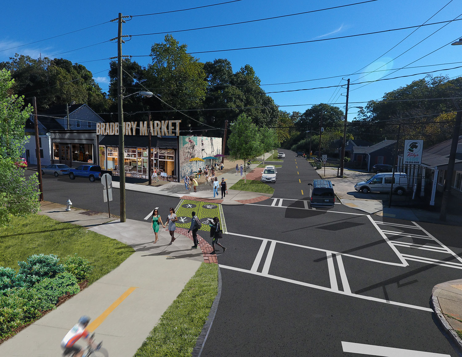 Proposed Trolley Trail at Whiteford-Woodbine Intersection