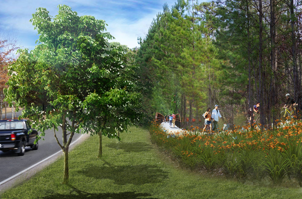 Proposed plan for the trail along Newnan Cross Boulevard