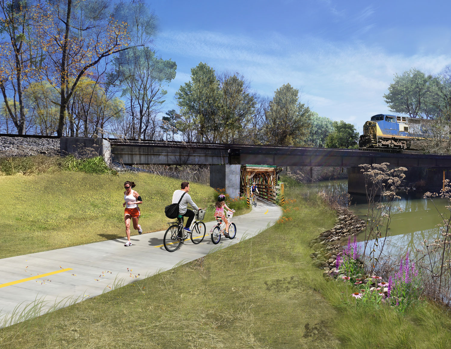 Proposed plan for the railroad underpass next to Oothkalooga Creek