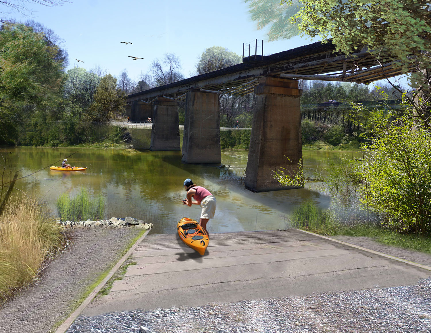Proposed plan for the Fort Wayne Boat Launch