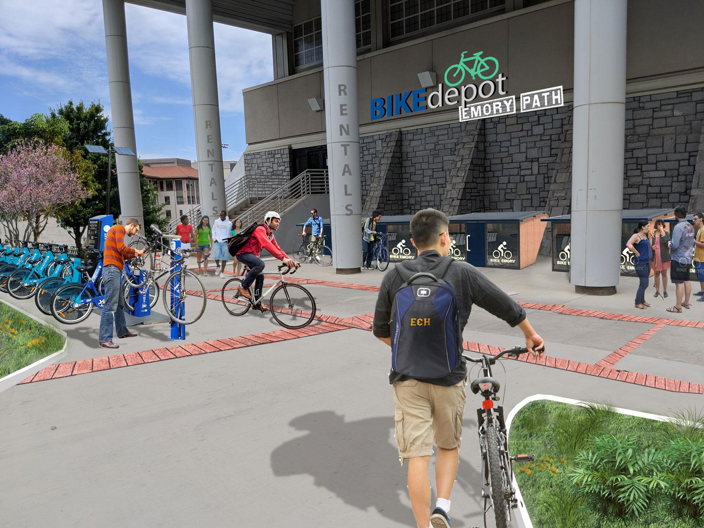 Proposed Bike Depot (option 1)