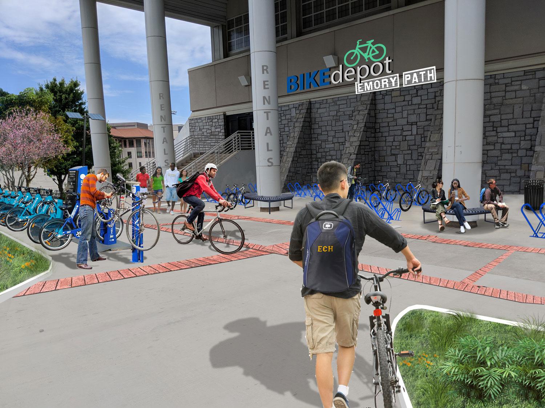Proposed Bike Depot (option 2)