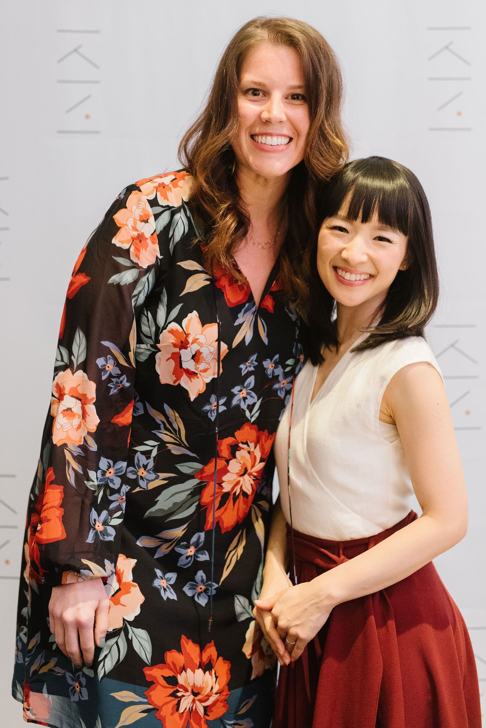 Pictured with Marie Kondo at the 2019 NYC KonMari Consultant in Training Seminar