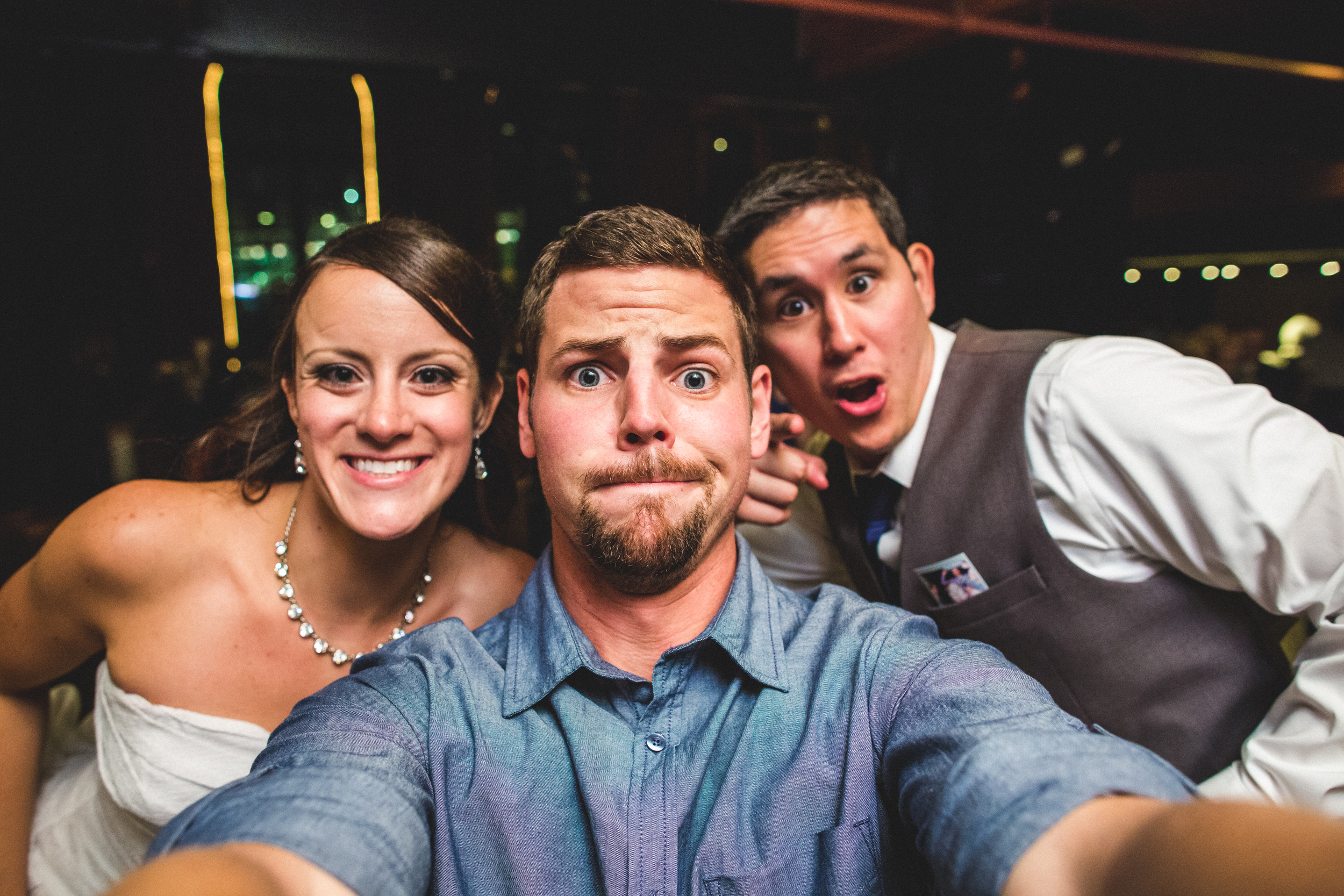 selfie at windows in the river | Cleveland ohio wedding photographer