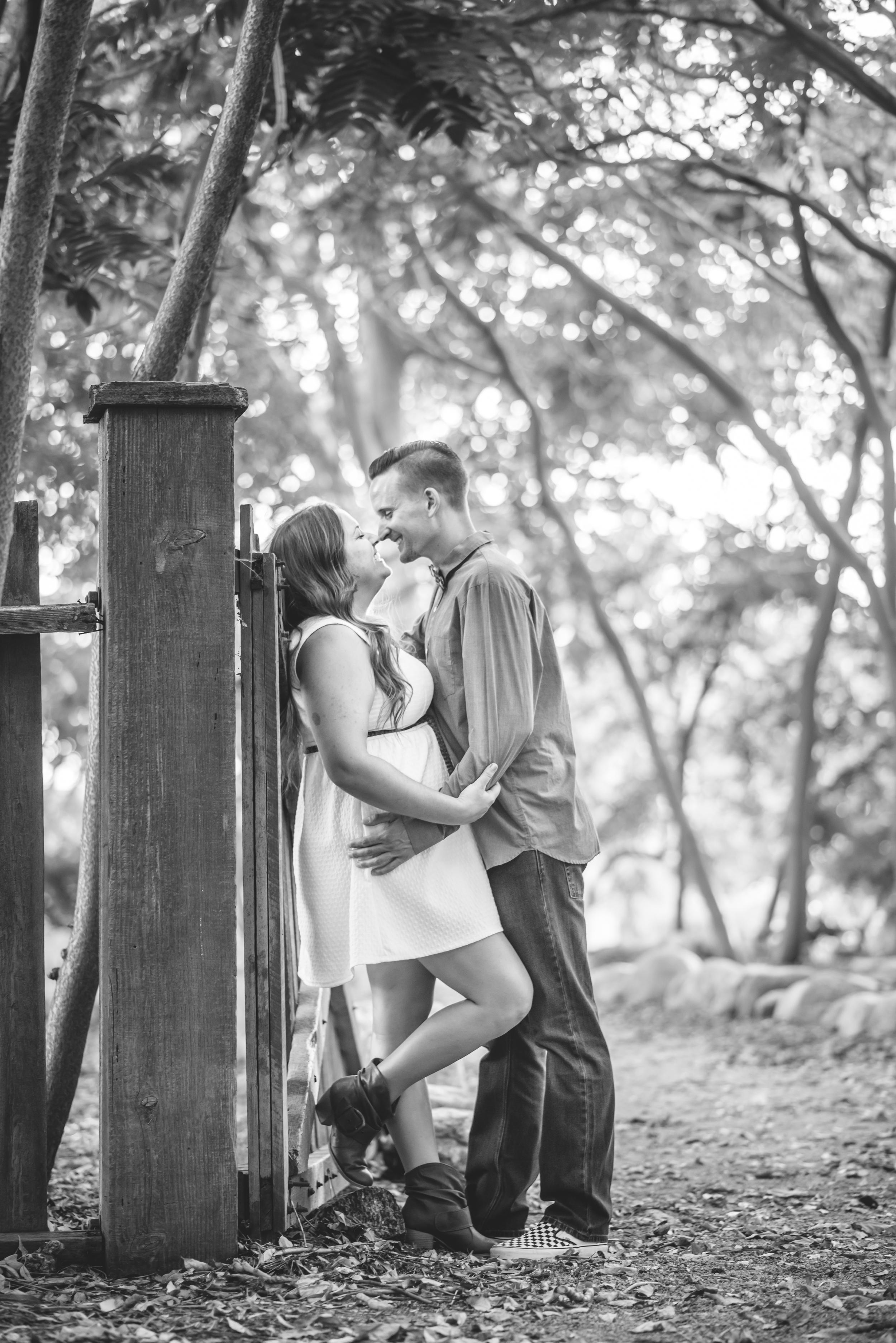 Ayren and Curtis' Engagement photos in Claremont California