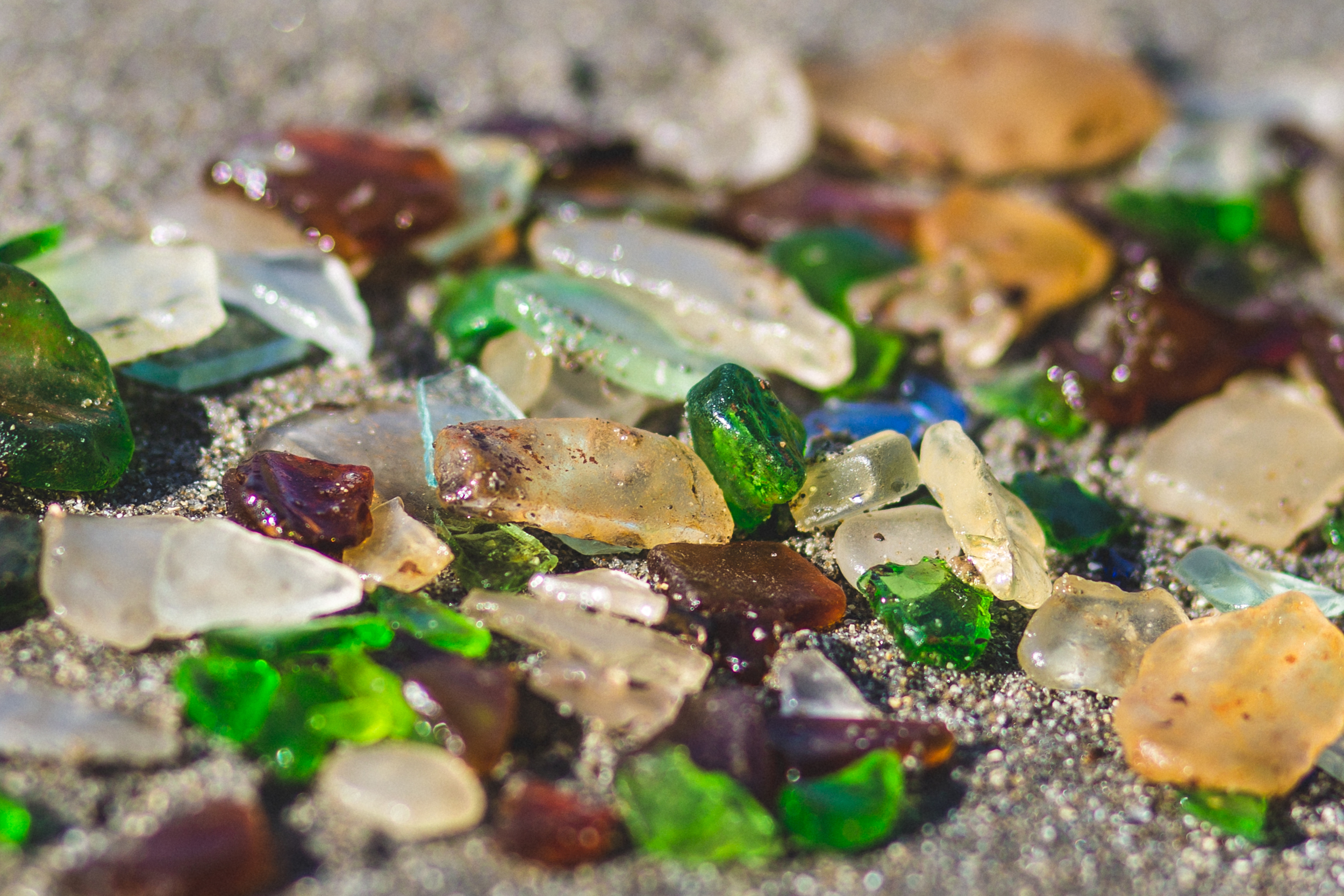 northern california road trip fort bragg glass beach sea glass