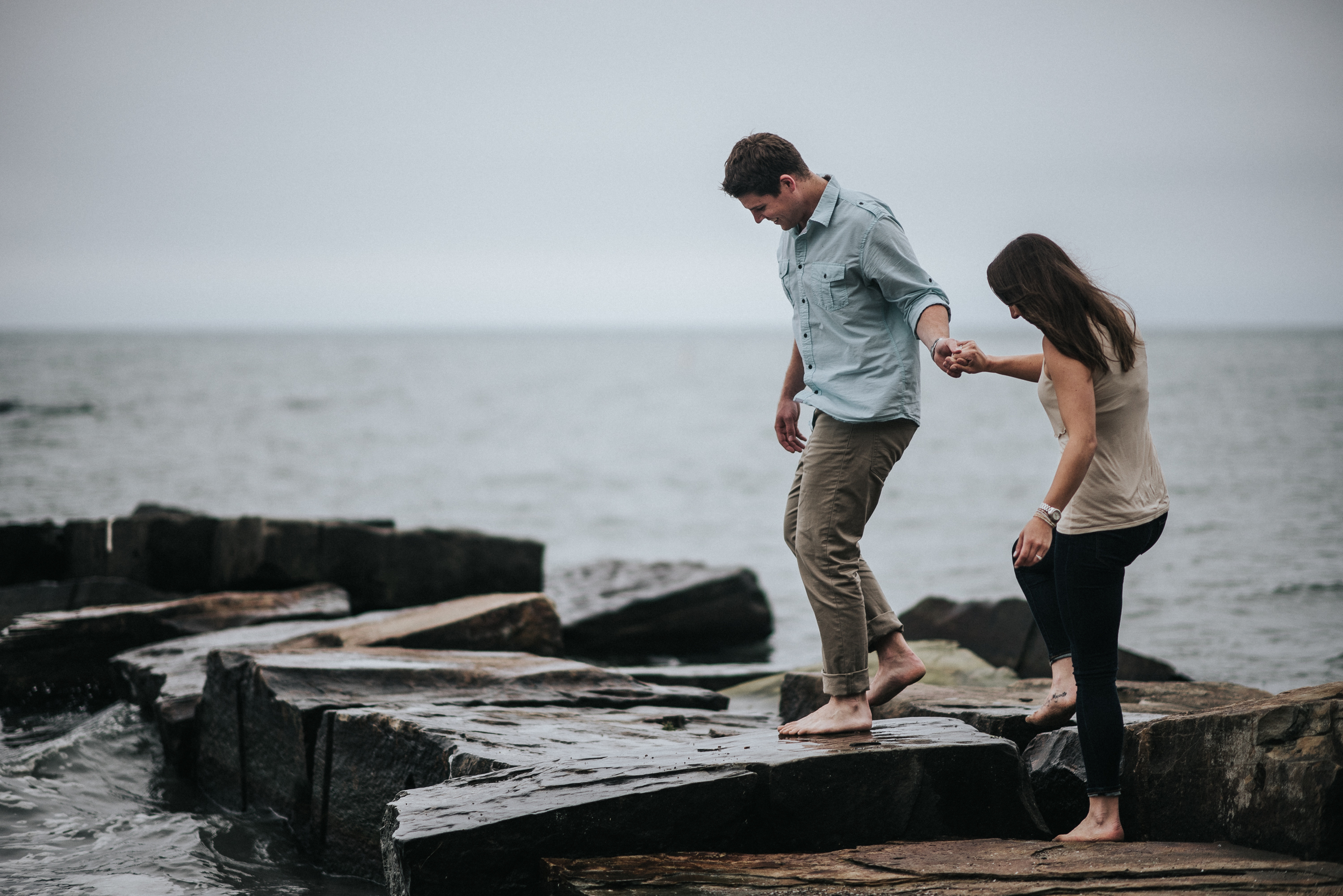 Engagement session at Huntington Beach | Kim + Brian