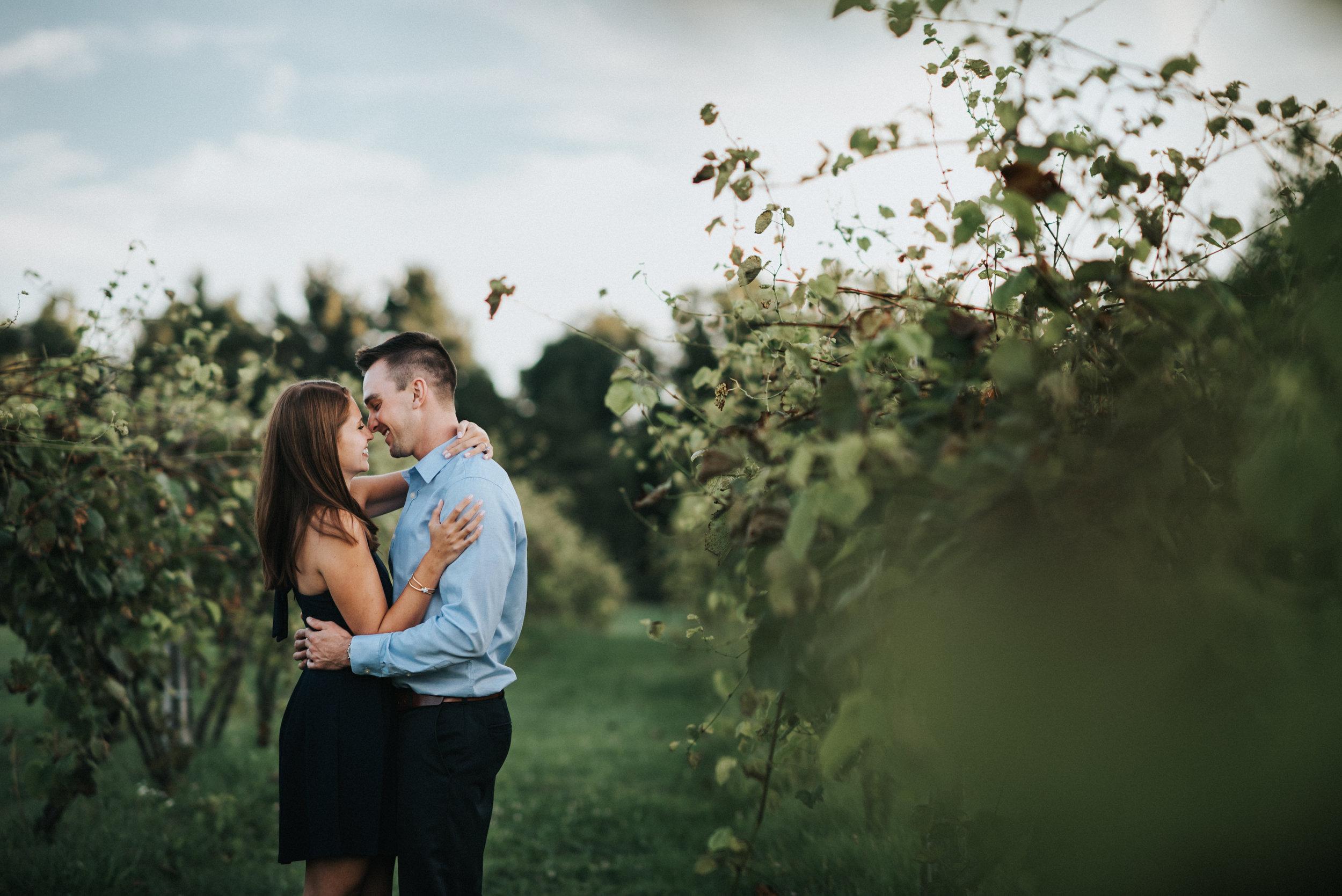 Engagement at Sarah's Vineyard in Cuyahoga Falls Ohio | Emily + Ethan