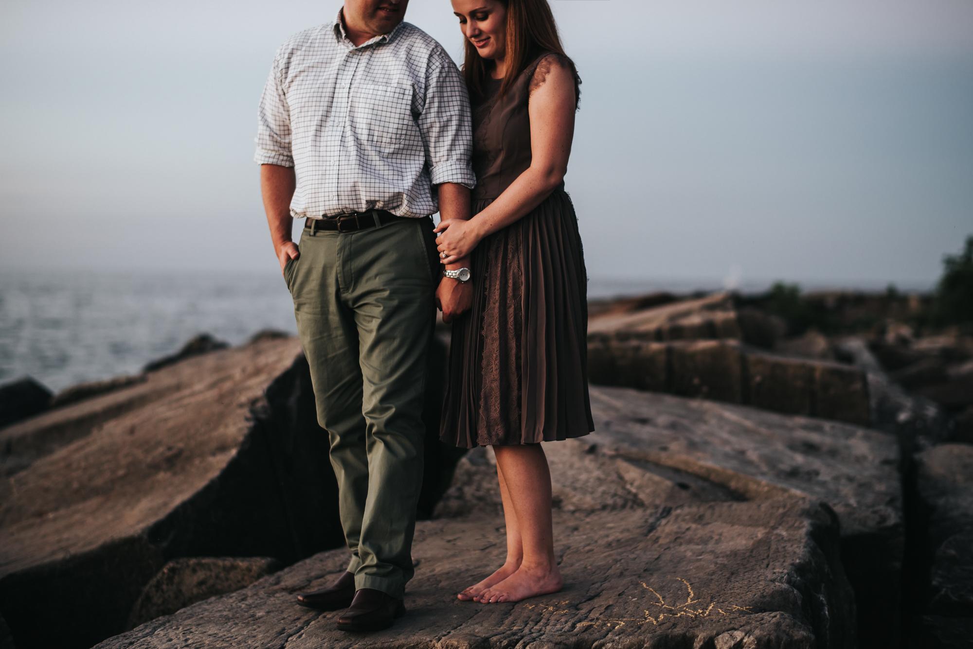 edgewater beach engagement session - cleveland ohio