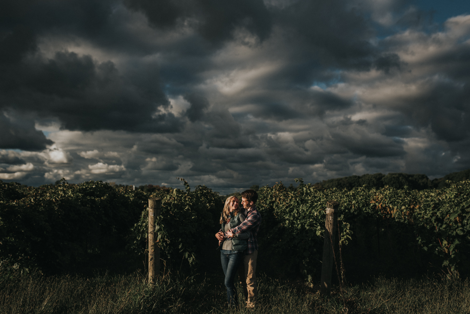 Ferrante winery engagement session - katie and nick