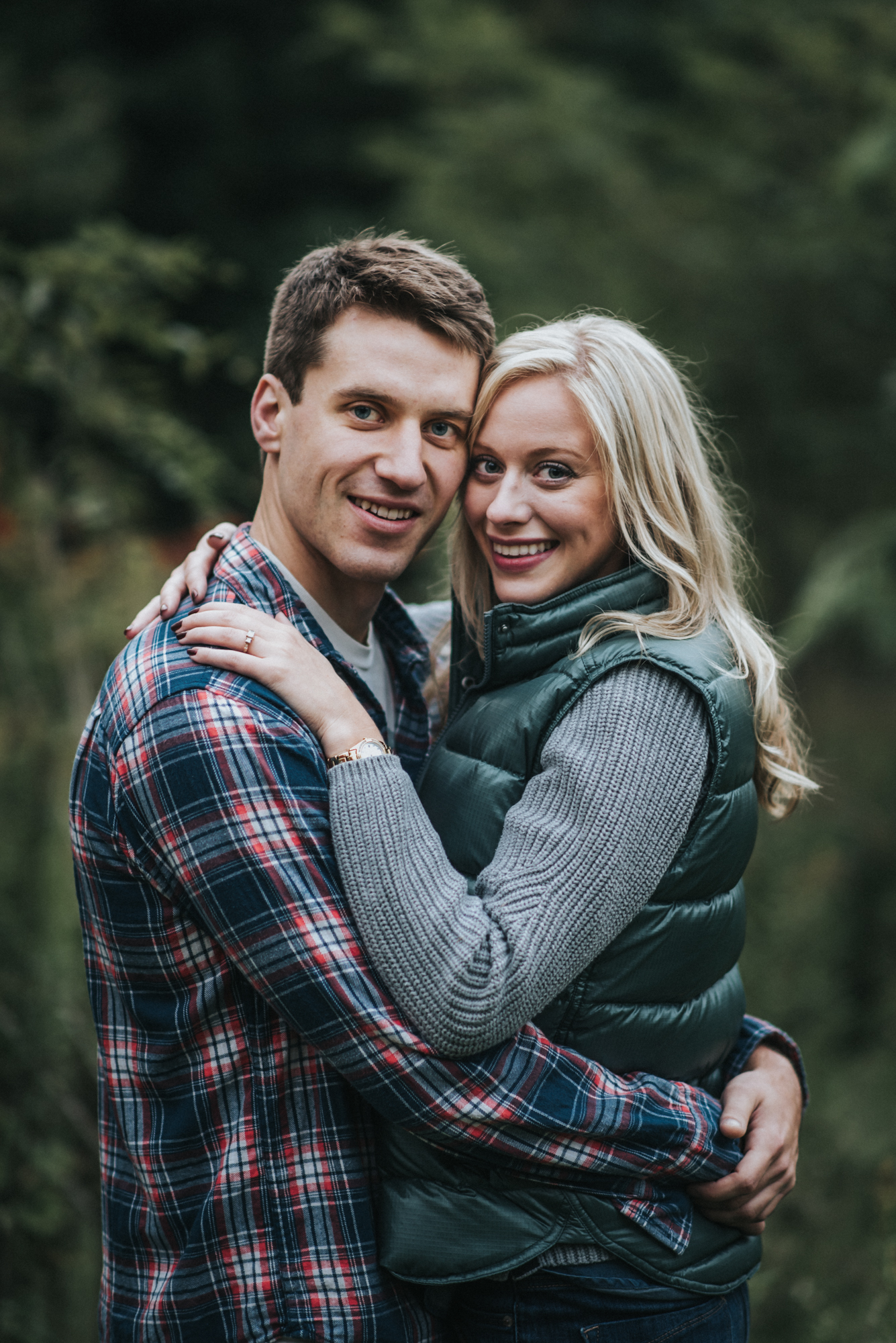 Harpersfield bridge engagement session - katie and nick