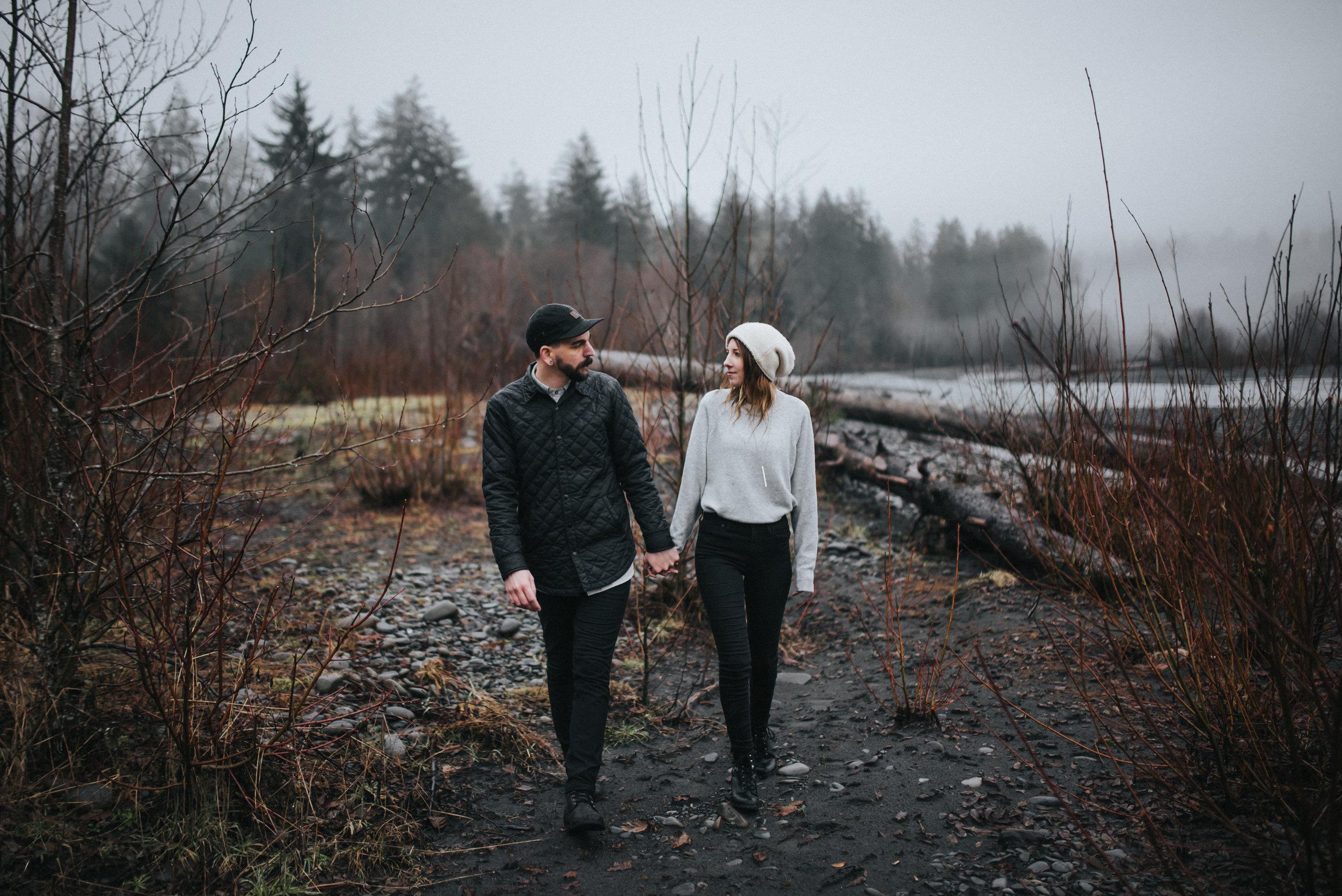 Engagement Session at the Hoh Rainforest in Washington   Katie + Matt