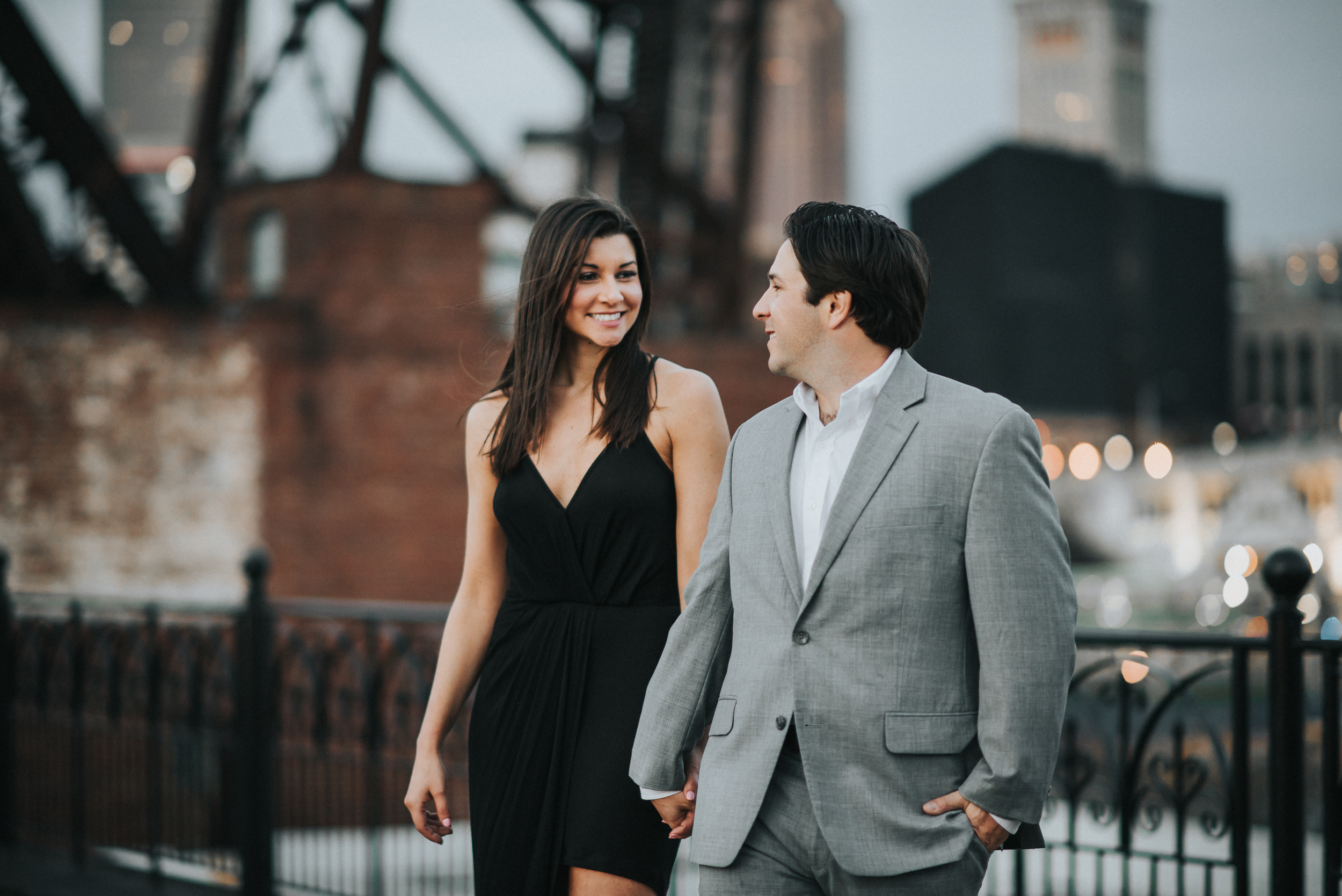 Engagement Session in Downtown Cleveland | Lauren + Nick