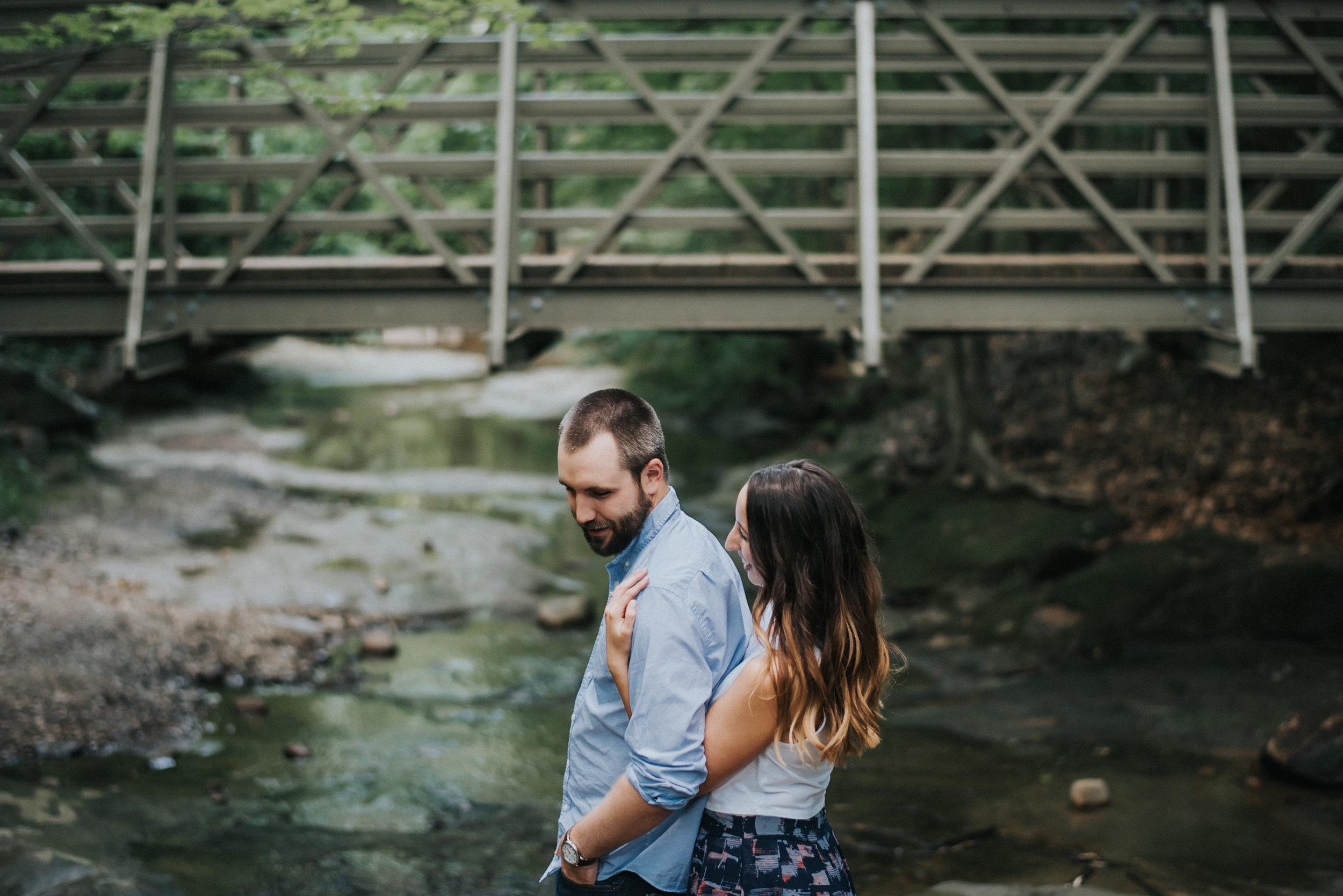 Blue Hen Falls Engagement photos | Laura and Ryan