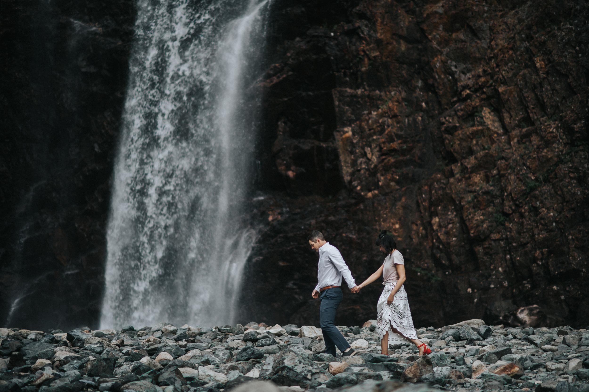 Engagement at Franklin Falls in Snoqualmie Pass, WA | Lauren & JC