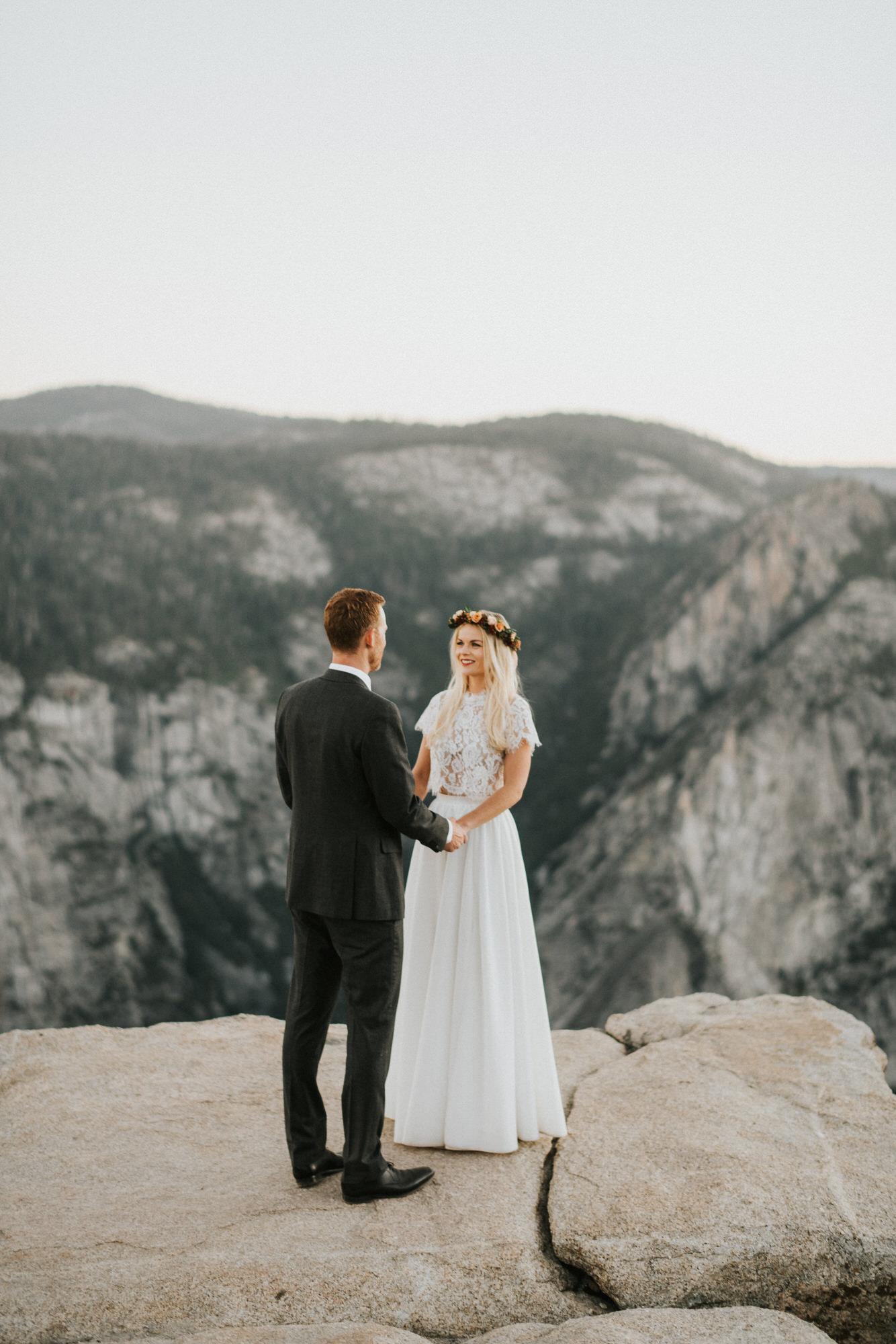 Sunrise Yosemite National Park Elopement at Taft Point