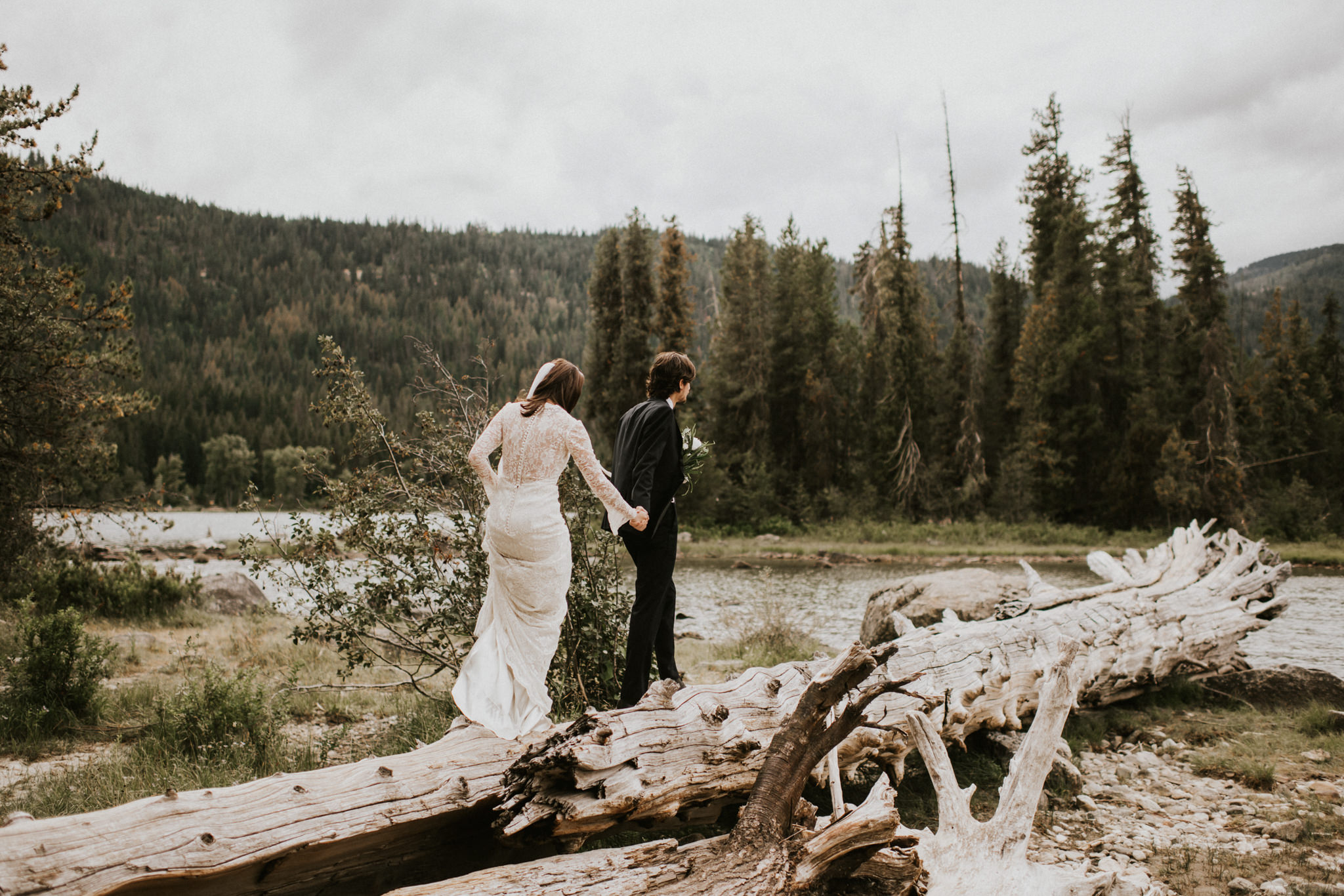 Lake Wenatchee State Park Leavenworth Washington Intimate Destination Wedding