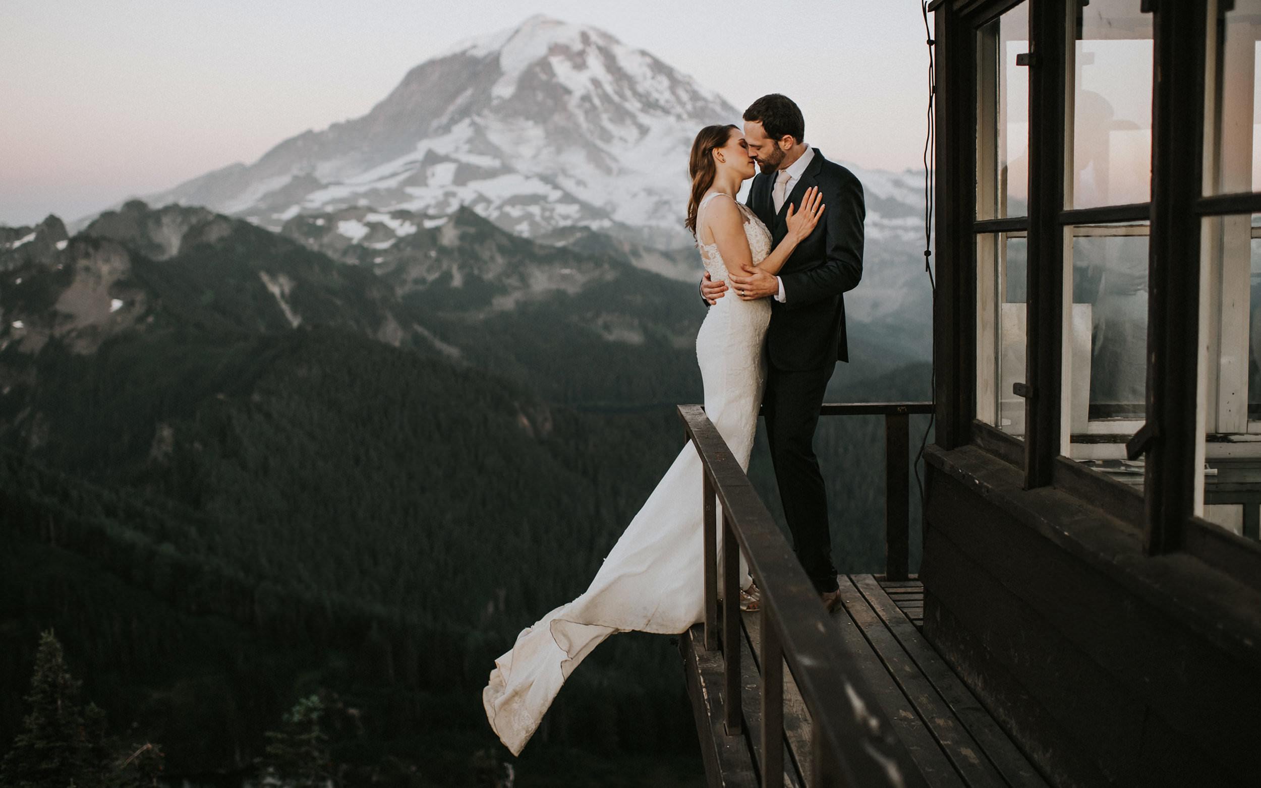 Mount Rainier National Park Adventure Elopement Wedding