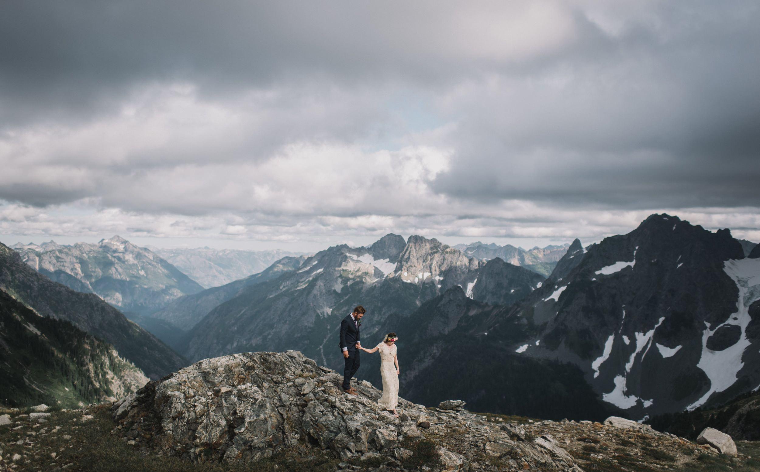 North Cascades National Park Adventure Elopement Photography